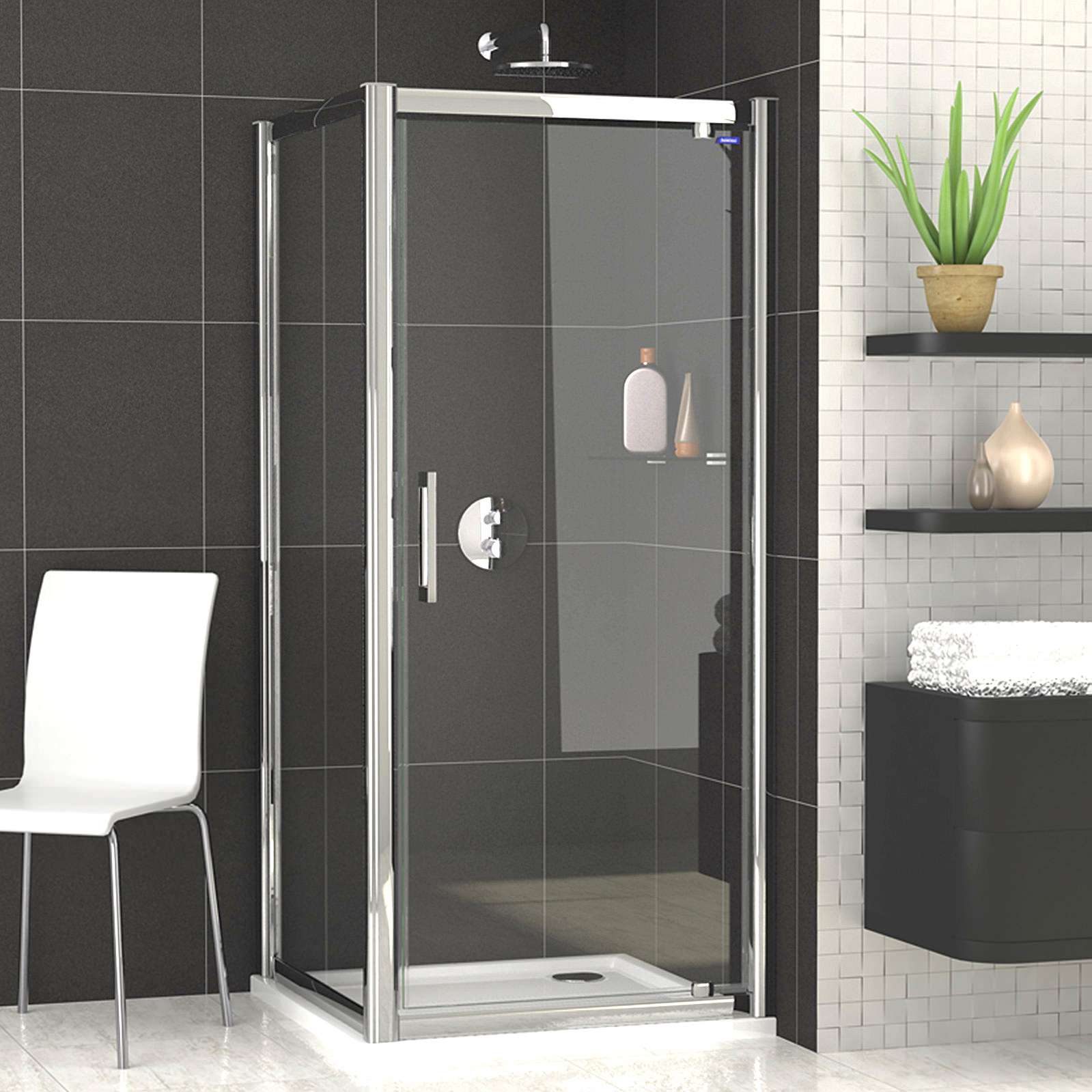 Showerlux legacy pivot shower door 1000mm for 1000mm shower door