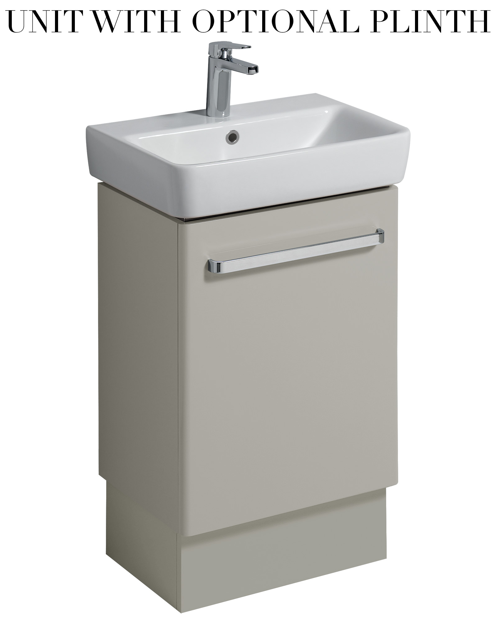 twyford e200 500mm grey unit for 550mm 1 or 2 tap hole. Black Bedroom Furniture Sets. Home Design Ideas