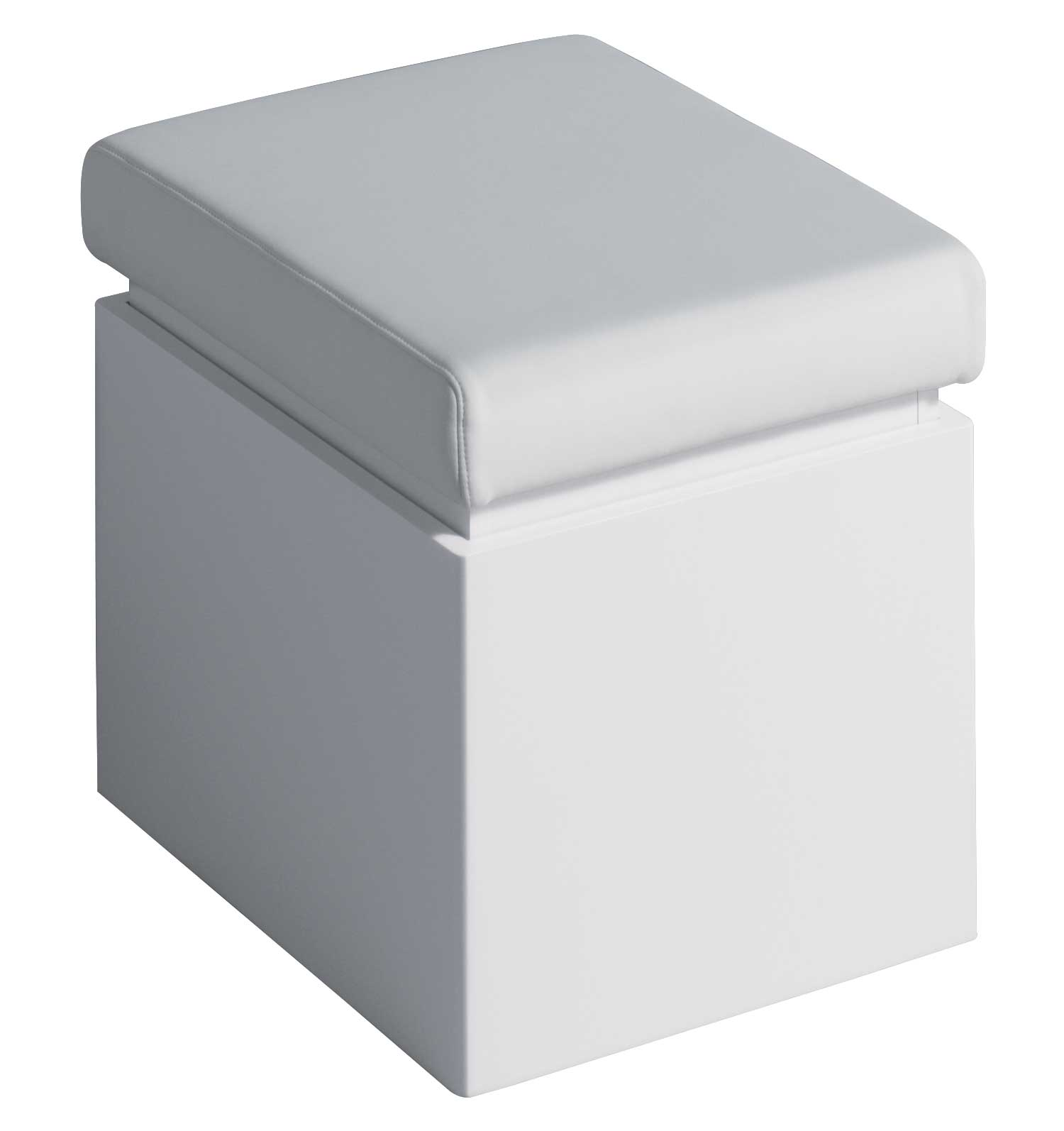 Twyford all white finish bathroom seat with storage ta0901wh for Chair with storage