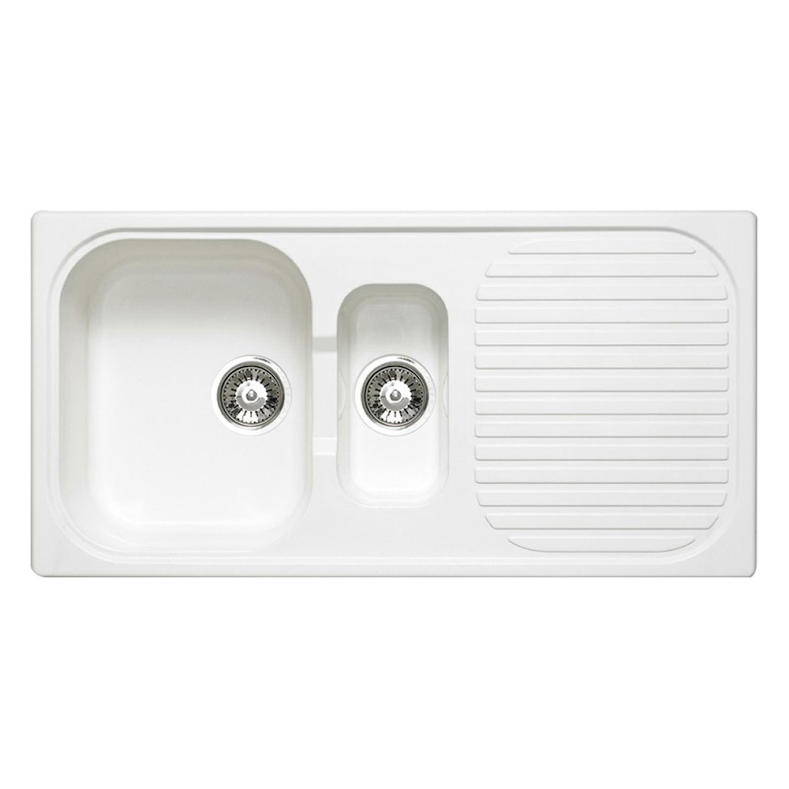 Astracast Msk 1 5 Bowl Composite Quartz White Inset Sink