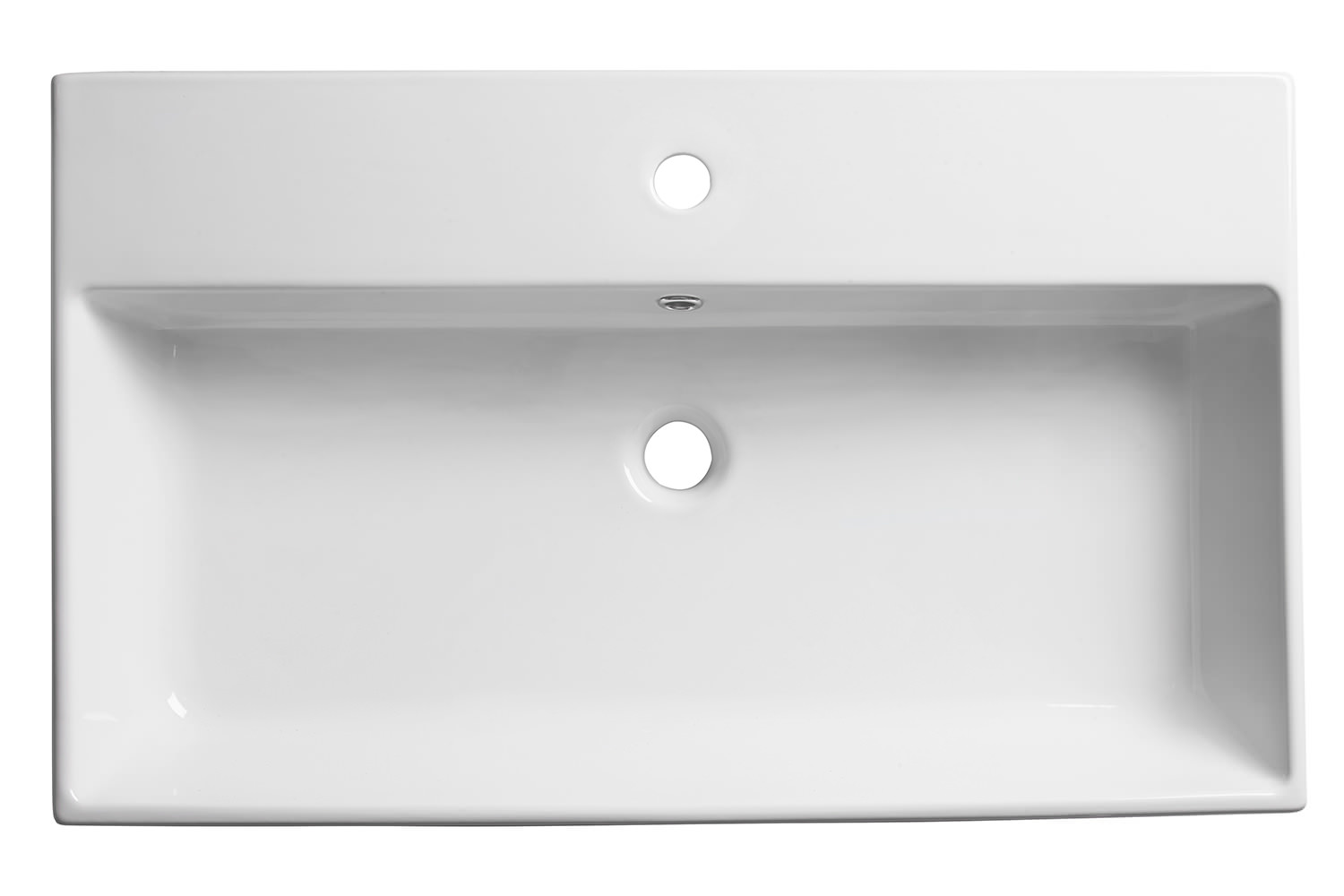 Wide Illuminated Bathroom Mirror With Backlit Effect For Double Or Wide Basins: Roper Rhodes Statement 600mm Wide Wall Mounted Or