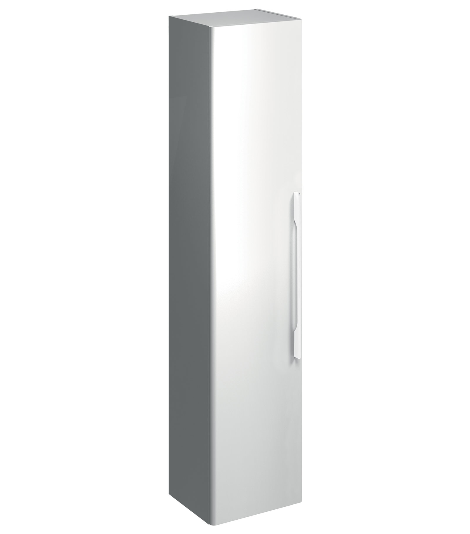 Twyford e500 square 360 x 1800mm white gloss tall for White gloss tall kitchen units