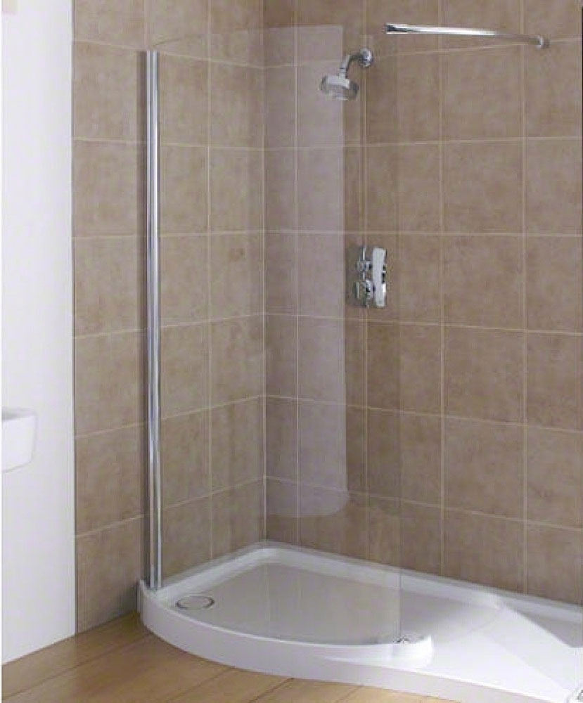 Mira Flight Rh Walk In Shower Tray 1400 X 800mm White