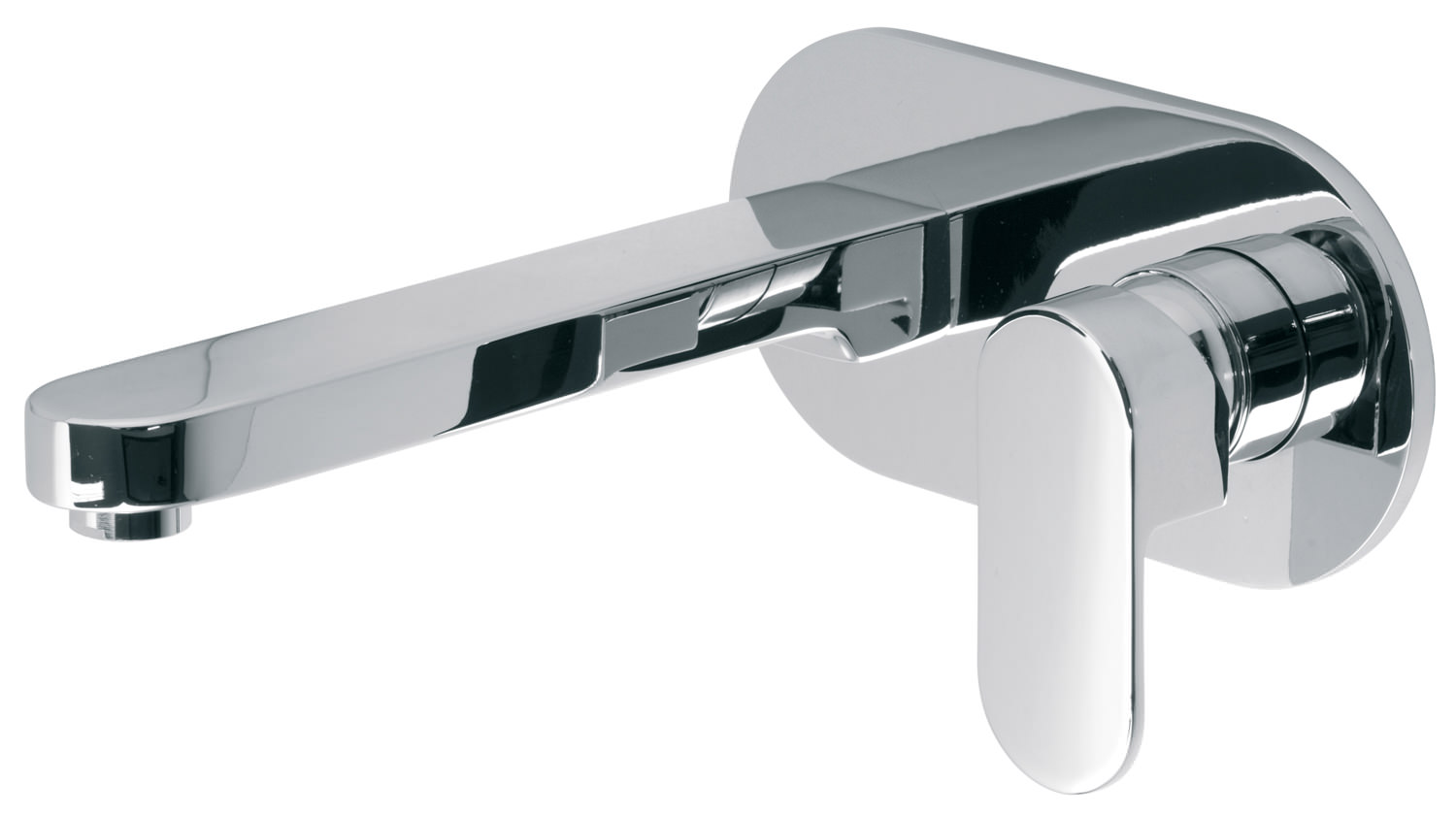 Vado Life Sink Mixer With Swivel Spout: Vado Life Wall Mounted 2 Hole Basin Mixer Tap 200mm