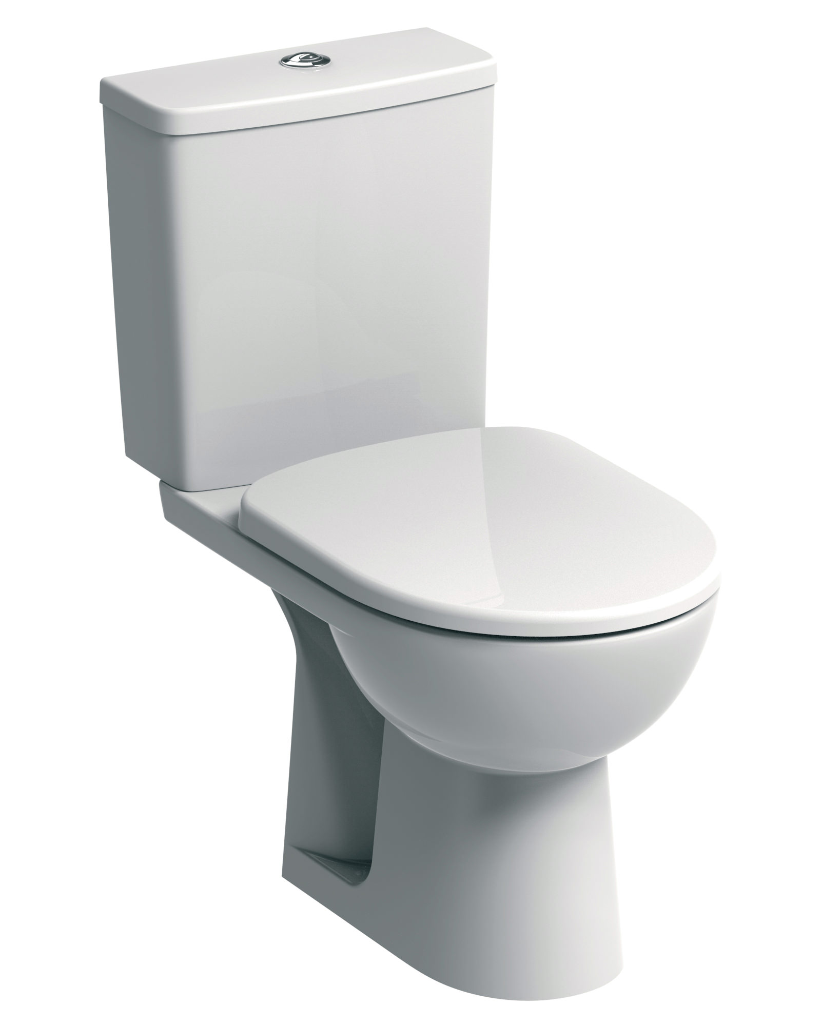 Twyford E100 Square Standard Close Coupled Wc 670mm And