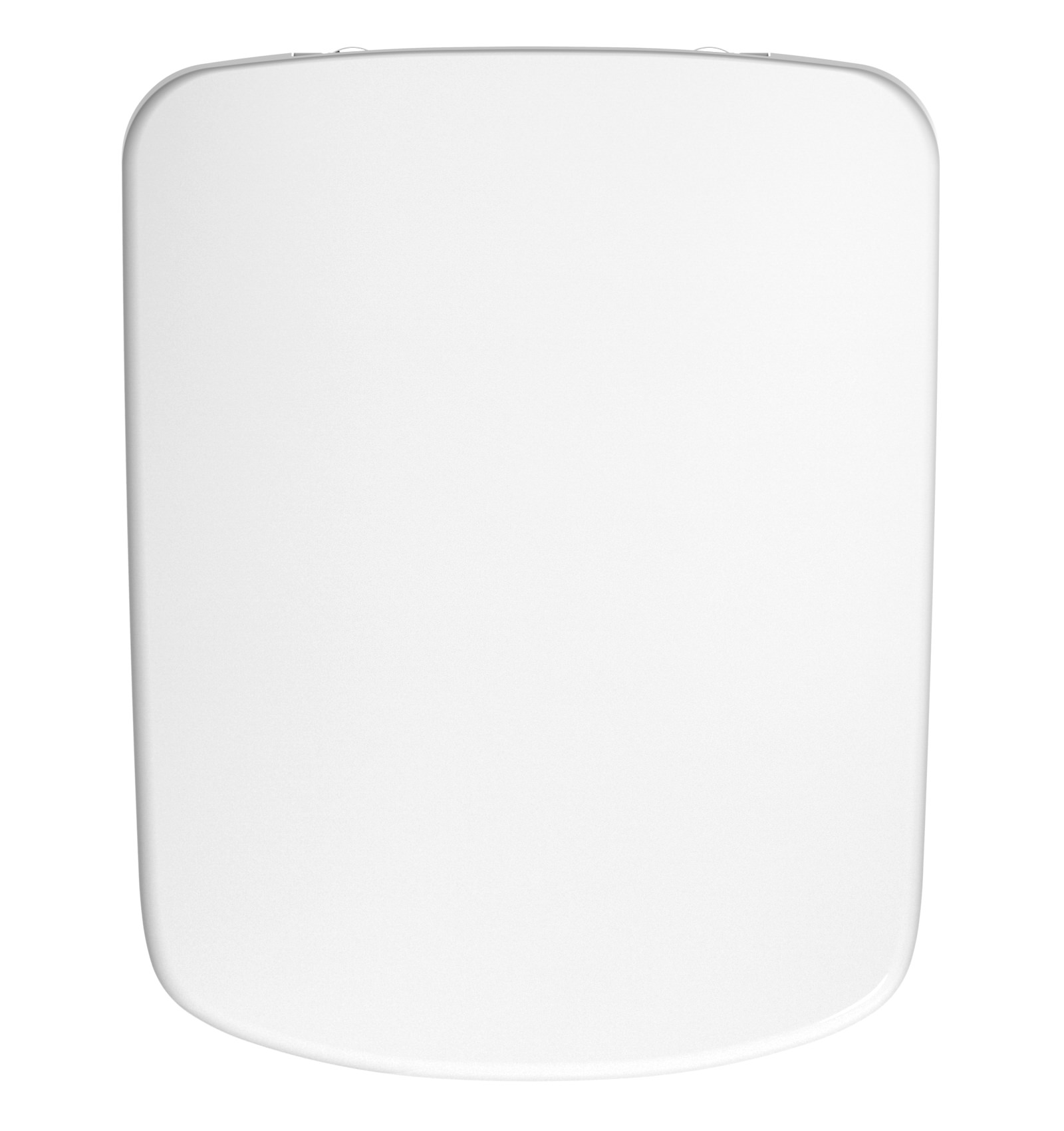 Twyford E100 Square Toilet Seat And Cover With Metal Top Fix Hinge Image