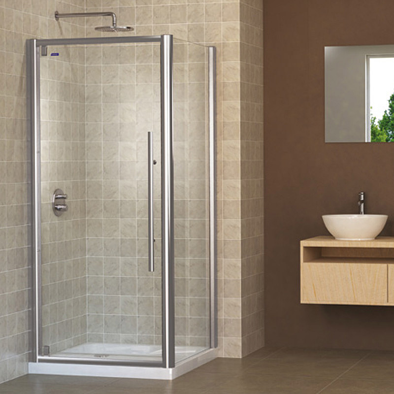 Showerlux linea touch pivot shower door 1000mm for 1000mm shower door