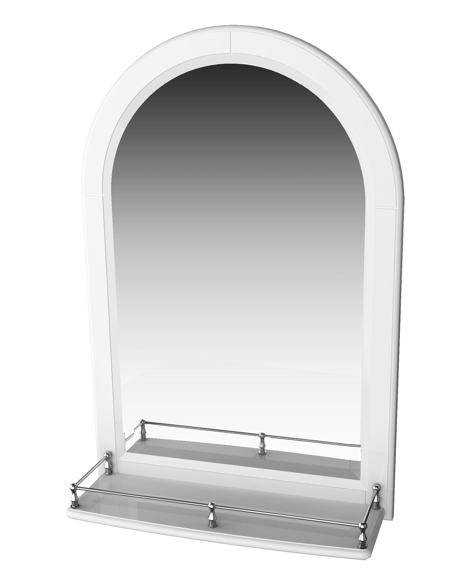 Miller traditional 1903 mirror with white arched frame and for Traditional mirror
