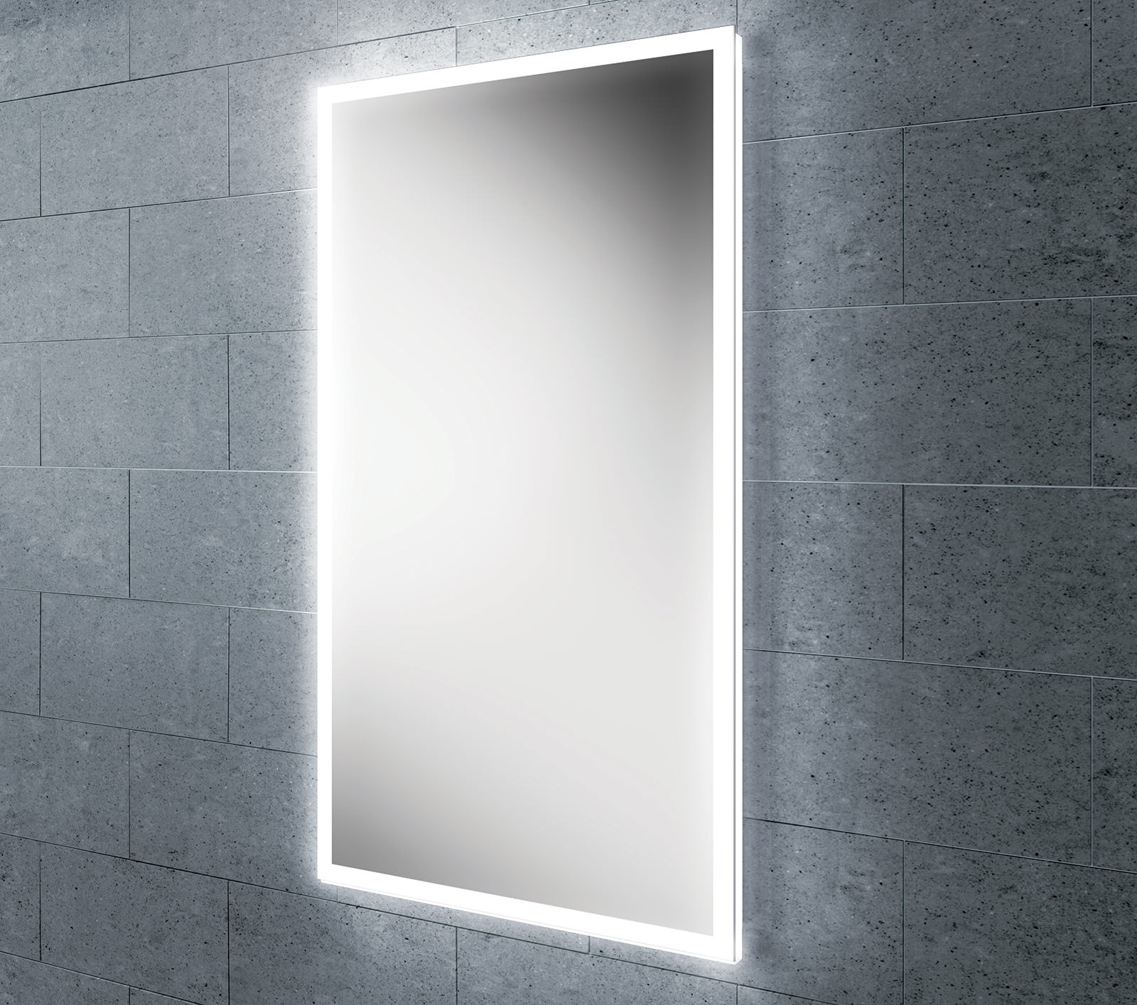 hib globe 45 steam free led mirror with ambient lighting 16250