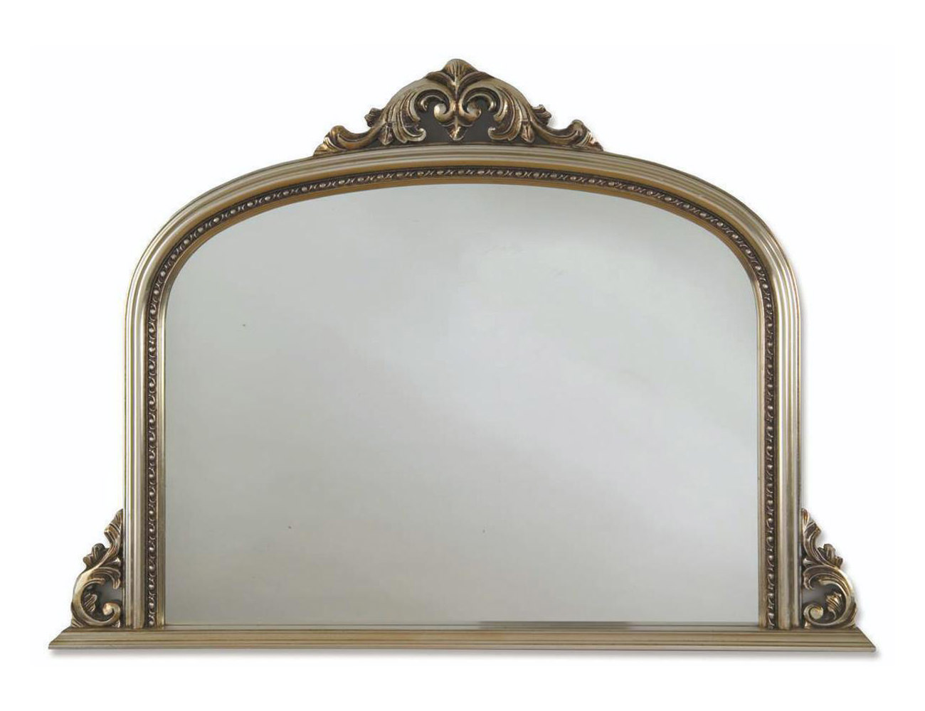 Heritage archway champagne silver wooden frame mirror 1270 for Silver framed mirror