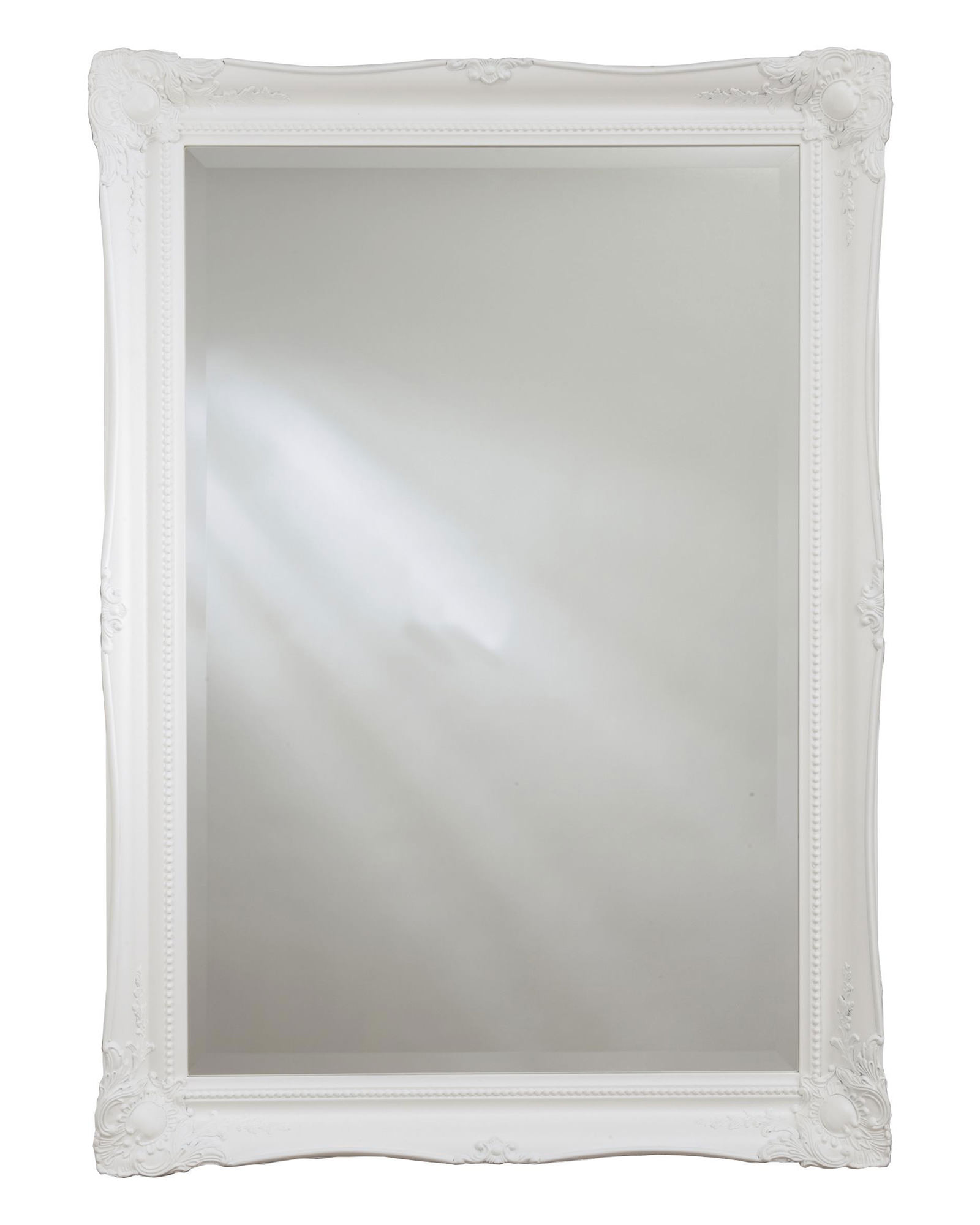 Heritage balham white wooden framed mirror 660 x 910mm for White framed mirror