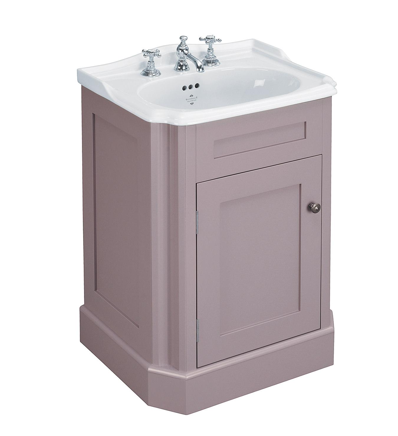 Silverdale balasani 600mm single door plum grey vanity for Bathroom cabinets 600mm
