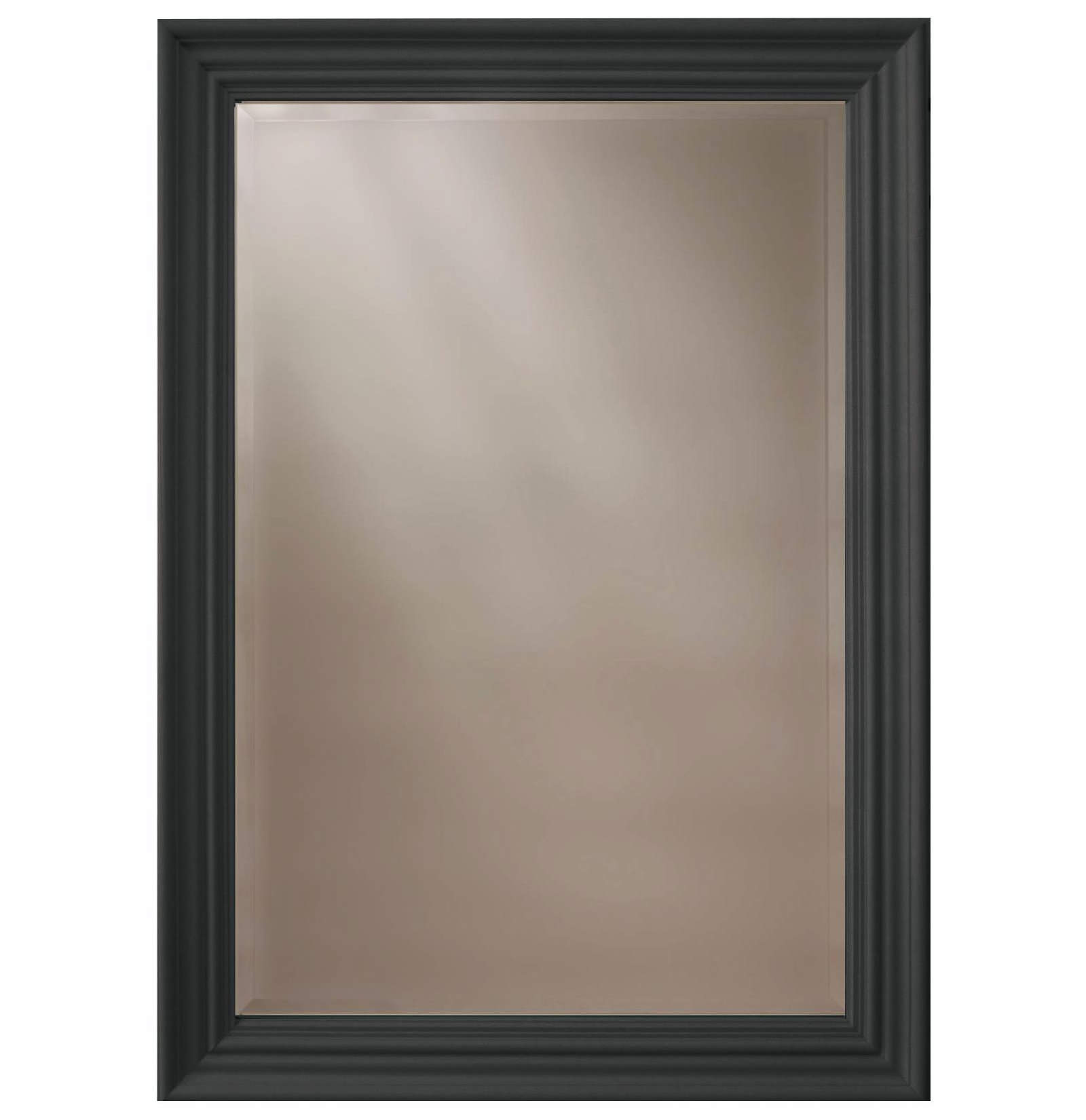 Heritage Edgeware Onyx Black Wooden Framed Mirror 660 X 910mm