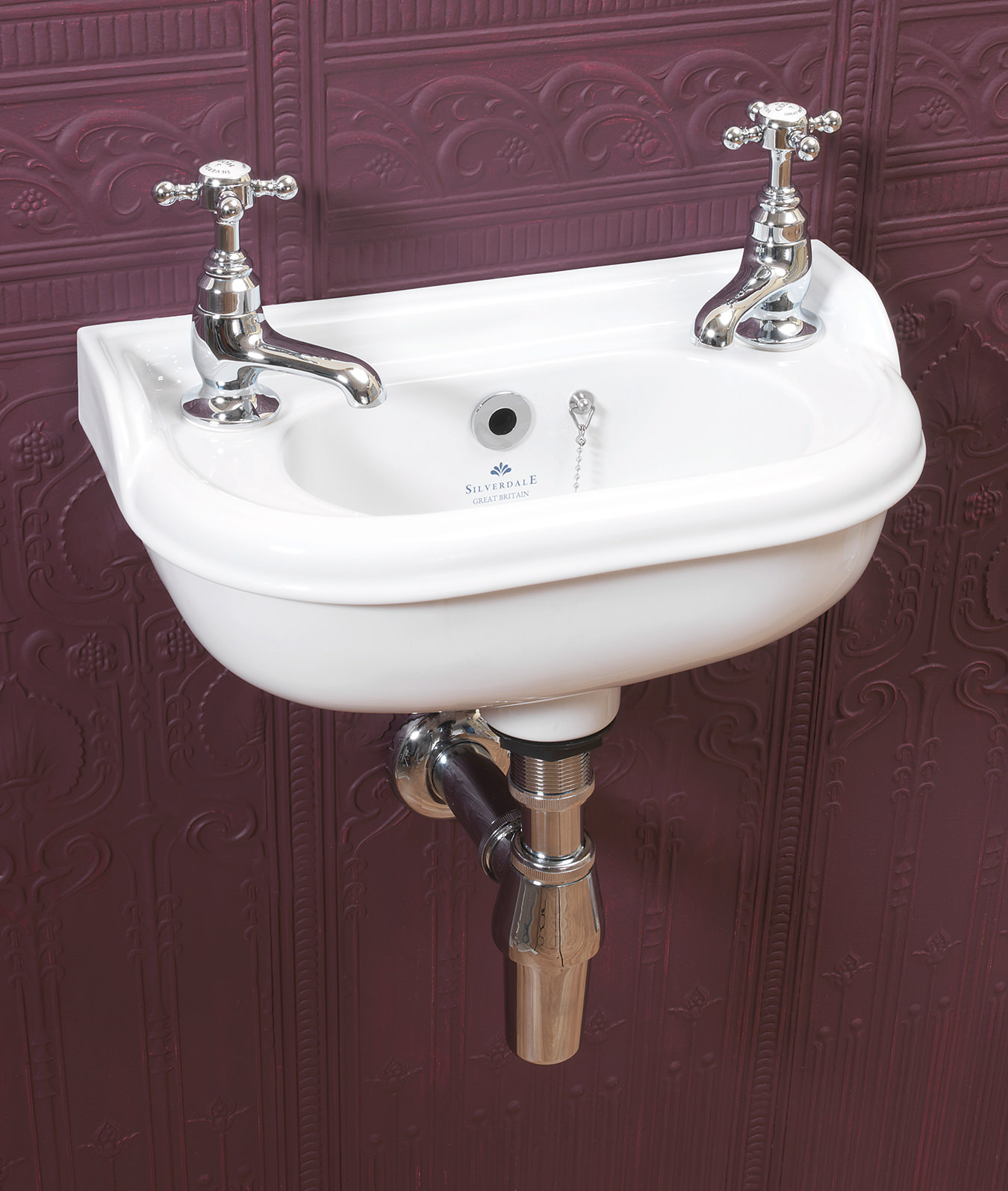 victorian sinks bathroom silverdale white 2 tap micro basin 14949