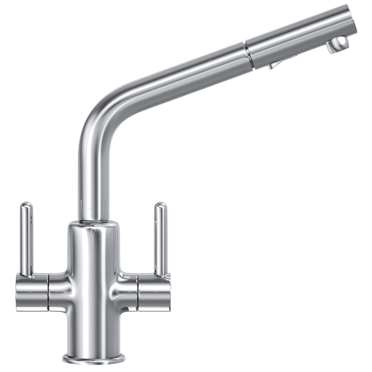 White Kitchen Mixer Tap franke maris pull out spray kitchen sink mixer tap chrome | 1150363793