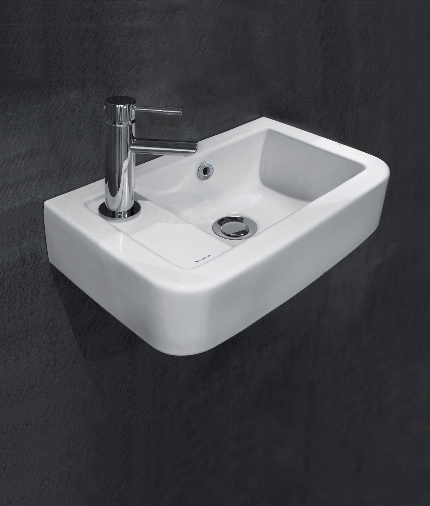 Uncategorized Smallest Hand Basin space saver wash basins qs supplies silverdale henley 410mm 1 tap hole left hand micro basin