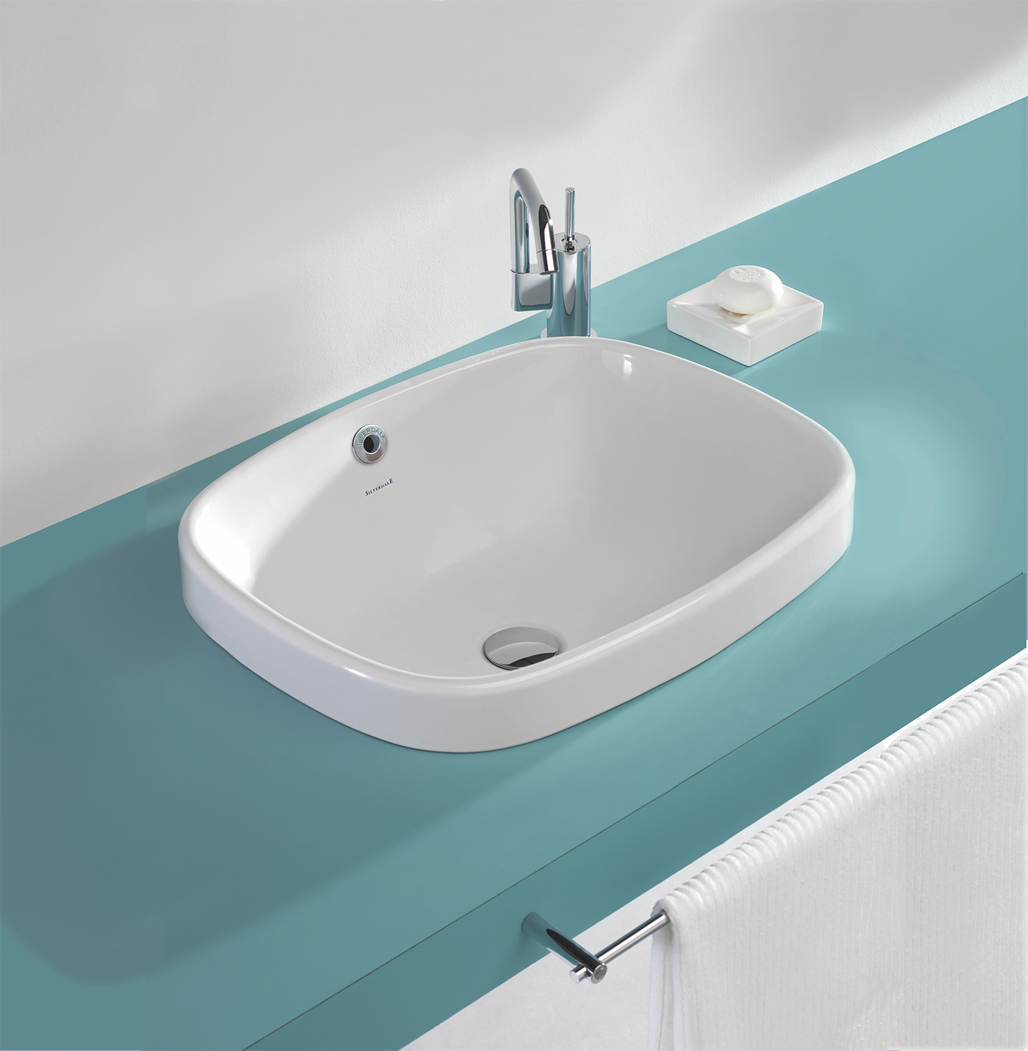 Silverdale Ascot 550mm 0 Tap Hole Inset Vanity Basin