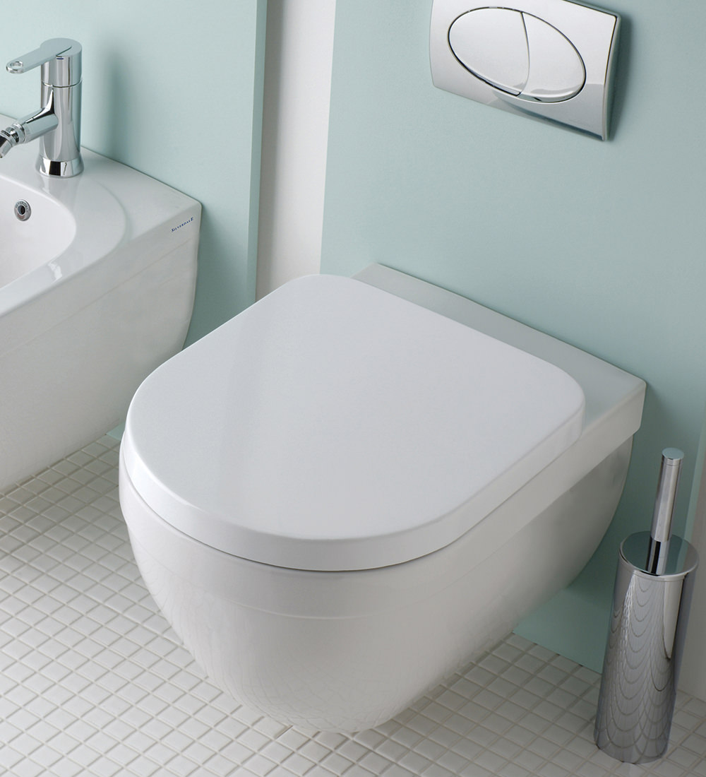 Silverdale Richmond White Wall Mounted Wc Pan With Toilet