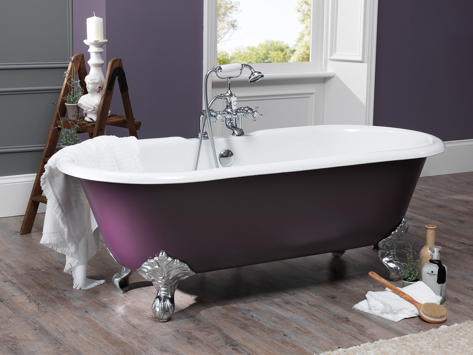 Silverdale Rosamund Dual Roll Top Bath 1780 X 800mm With Primed Feet ROBTH2
