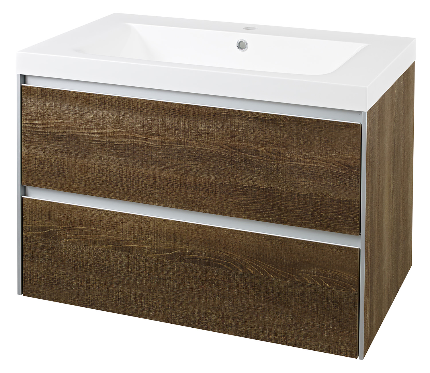Hudson Reed Erin 800mm Cabinet With Basin Textured Oak Cab384