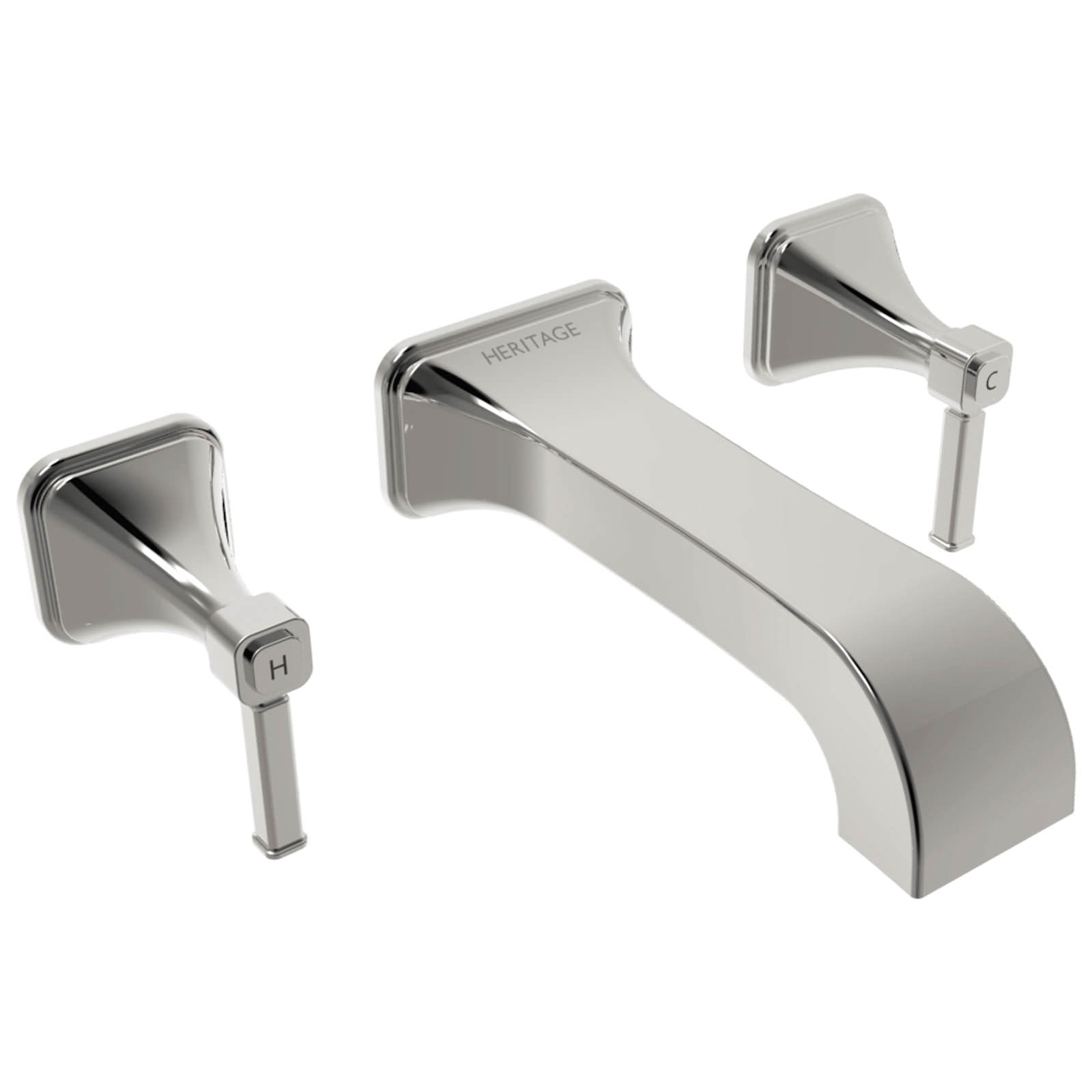 Heritage Somersby 3 Taphole Wall Mounted Bath Filler Tap