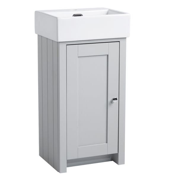 Tavistock Lansdown 400mm Pebble Grey Cloakroom Unit And