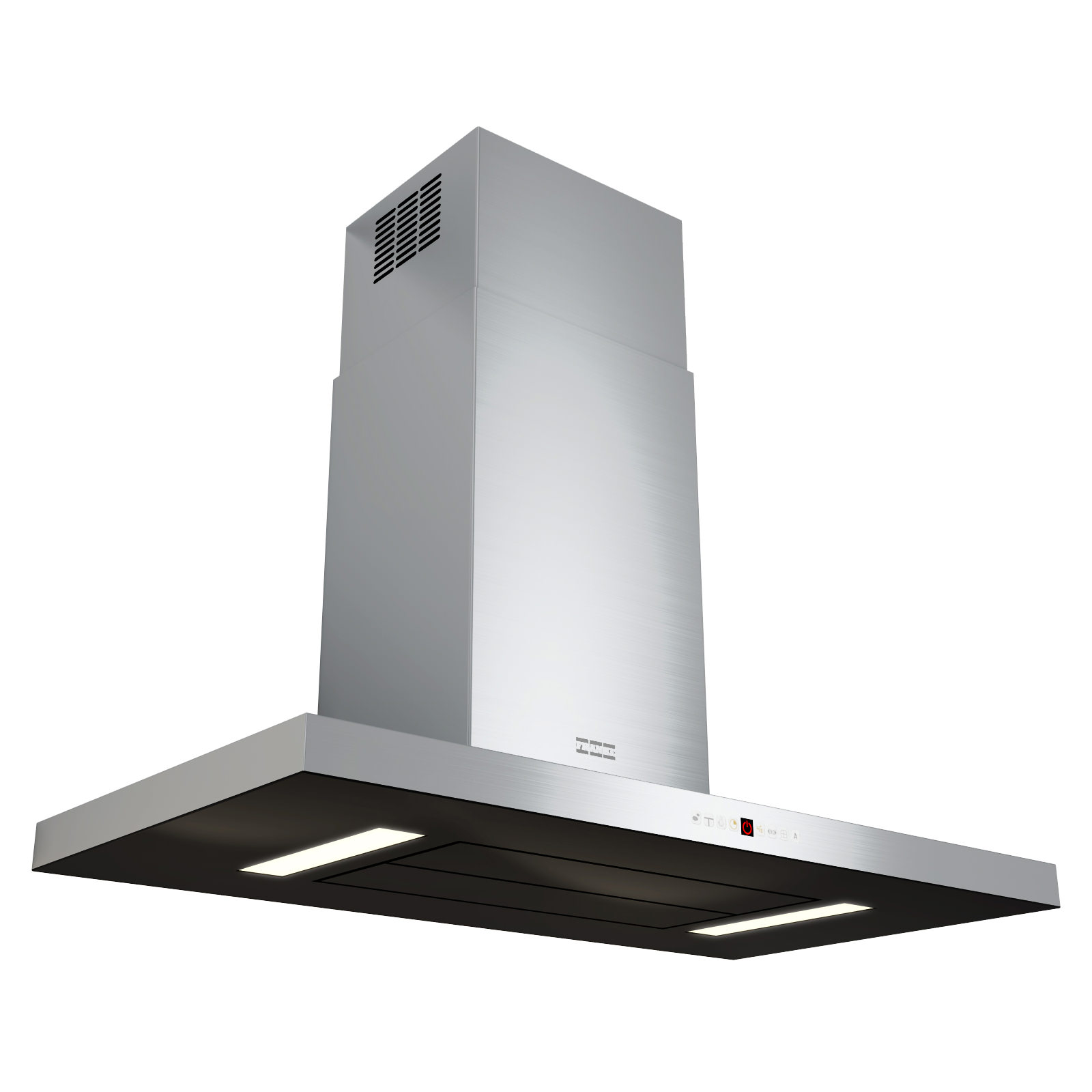Franke Rangehood : Franke Maris T-Shape 900mm FGB 906 W AC Wall Steel-Glass Kitchen Hood