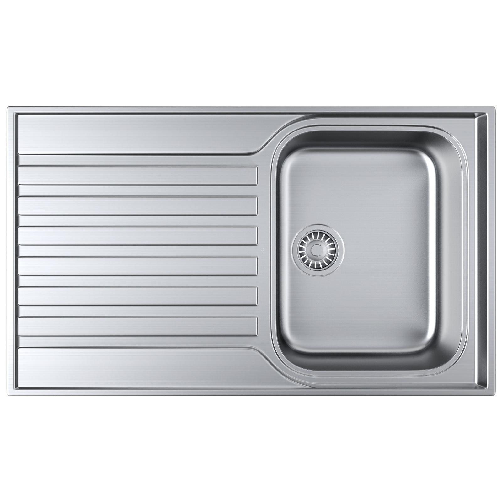 Franke Ascona ASX 611-860 Stainless Steel 1.0 Bowl Inset Sink ...