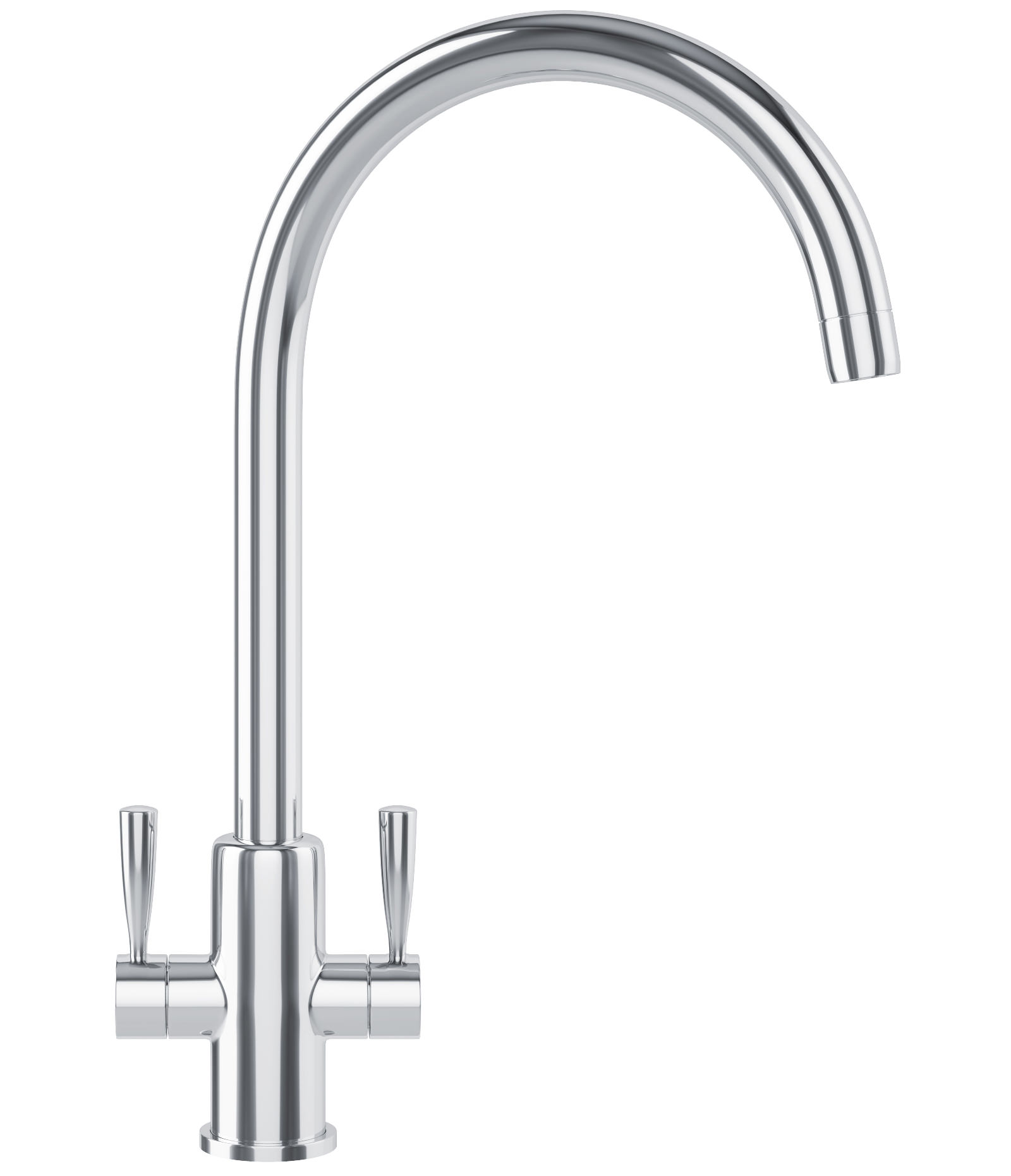 White Kitchen Mixer Tap franke ascona kitchen sink mixer tap chrome | 1150250635
