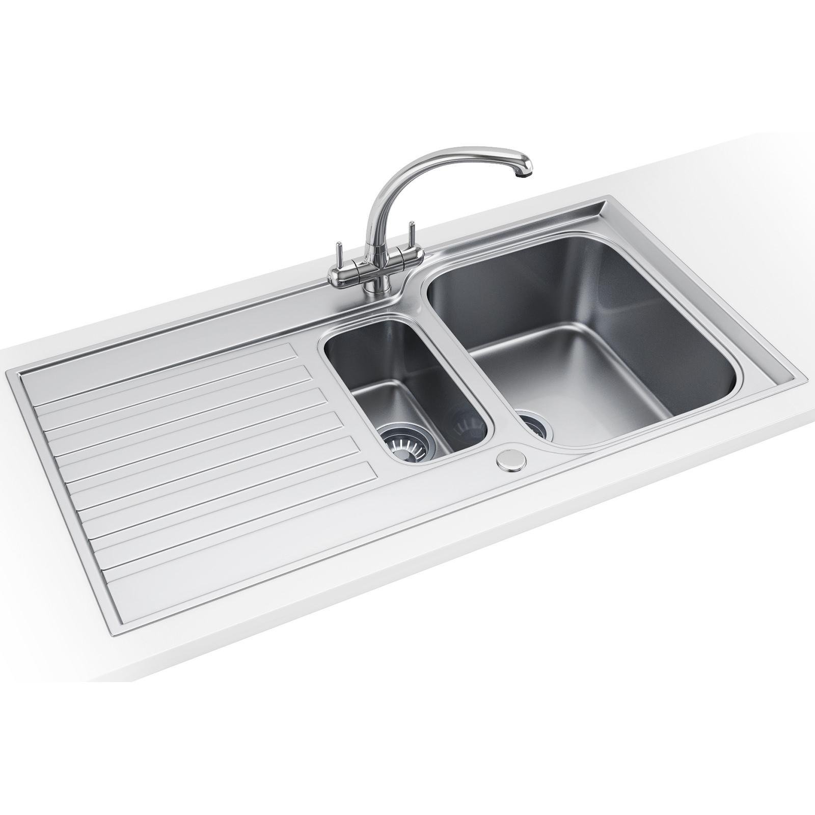 franke ascona asx 651 stainless steel 1 5 bowl inset sink