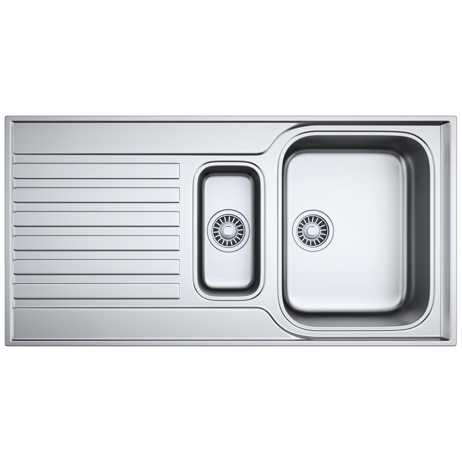 Franke ascona asx 651 stainless steel 1 5 bowl inset sink for Franke sinks