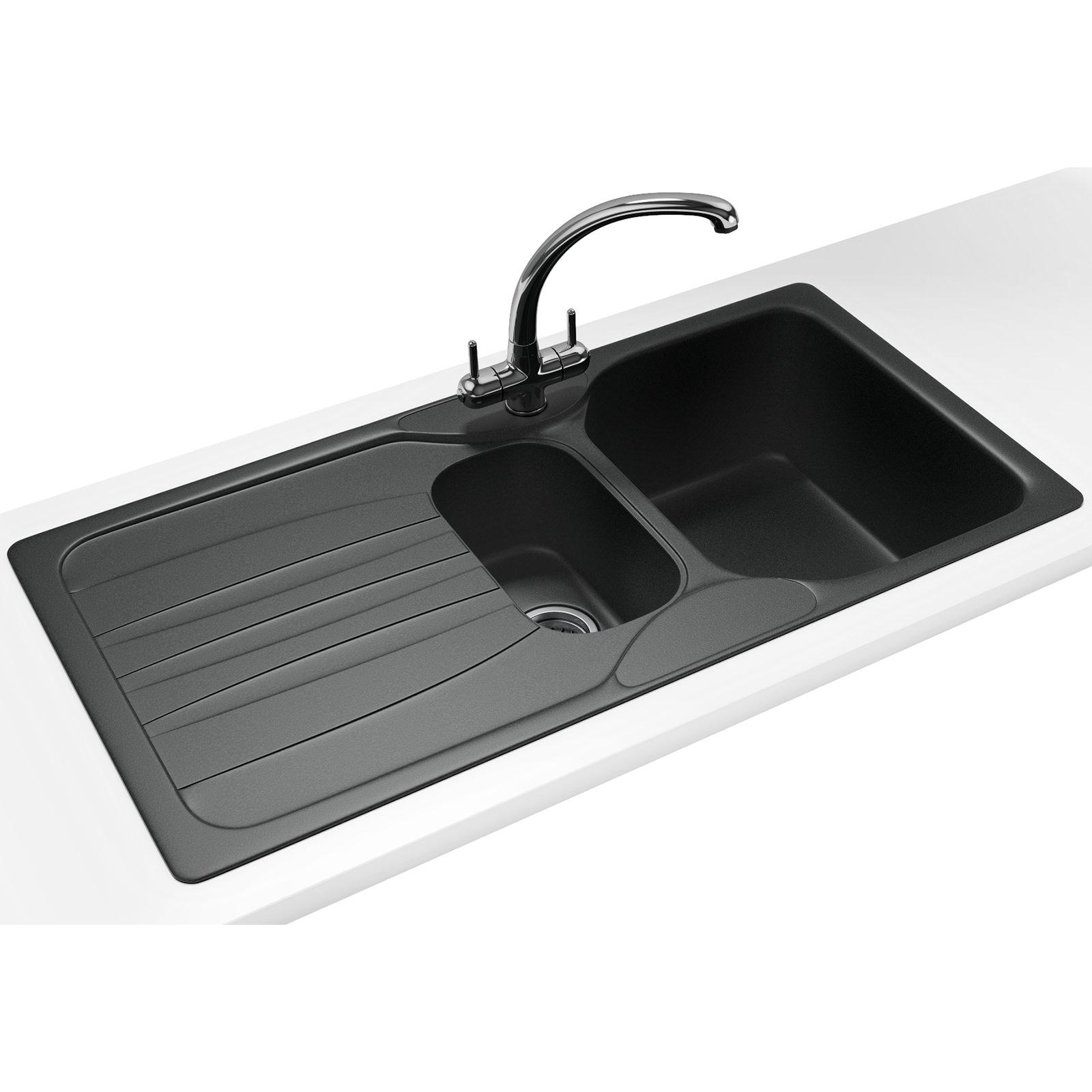 Franke calypso propack cog 651 fragranite graphite sink for Franke sinks