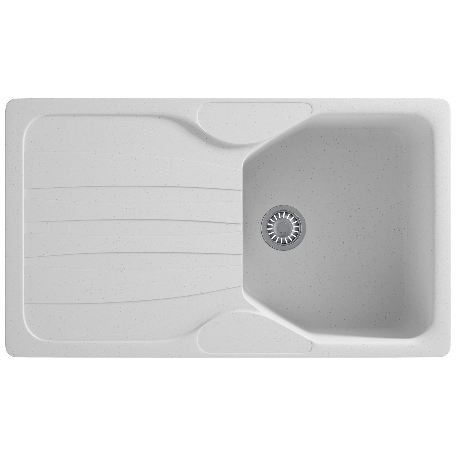 Franke Calypso Sink : Franke Calypso COG 611 Fragranite Polar White 1.0 Bowl Inset Sink ...