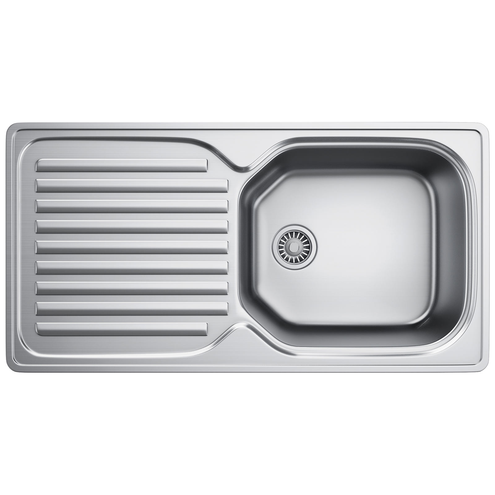 Franke Elba ELN 611 96 Stainless Steel 1.0 Bowl Kitchen Inset Sink ...