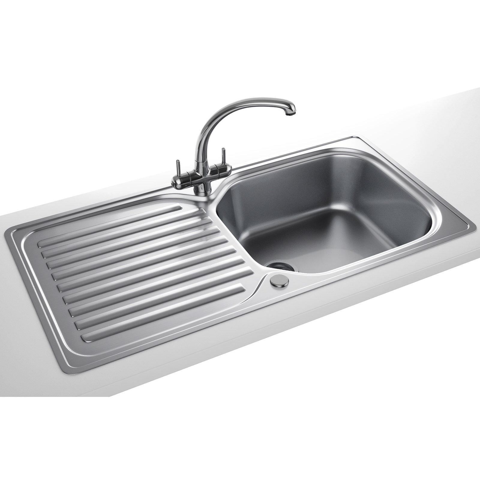 Franke Stainless Steel Sink : Franke Elba Propack ELN 611 96 Stainless Steel Kitchen Sink And Tap
