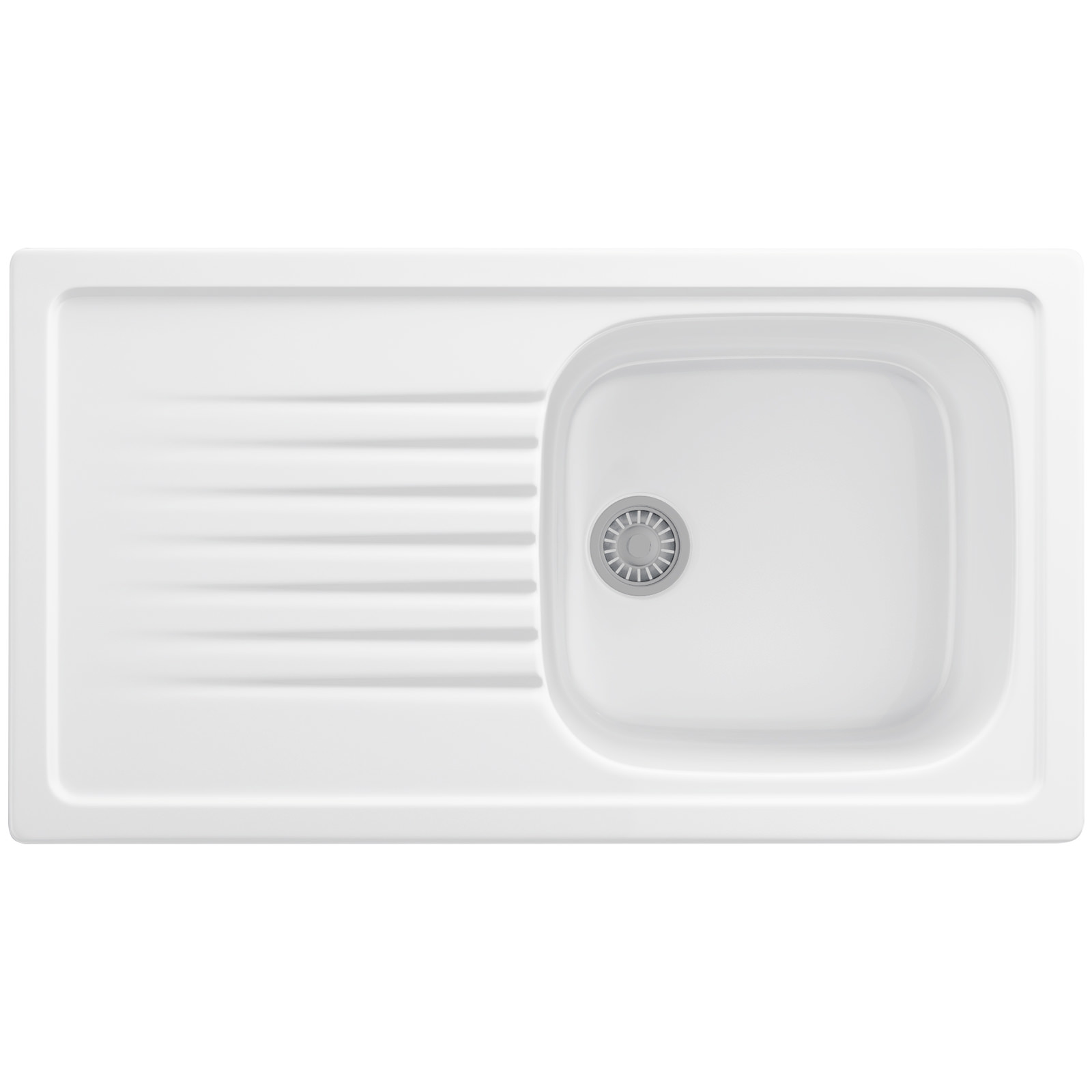 Franke Elba ELK 611 Ceramic White 1.0 Bowl Kitchen Inset Sink ...