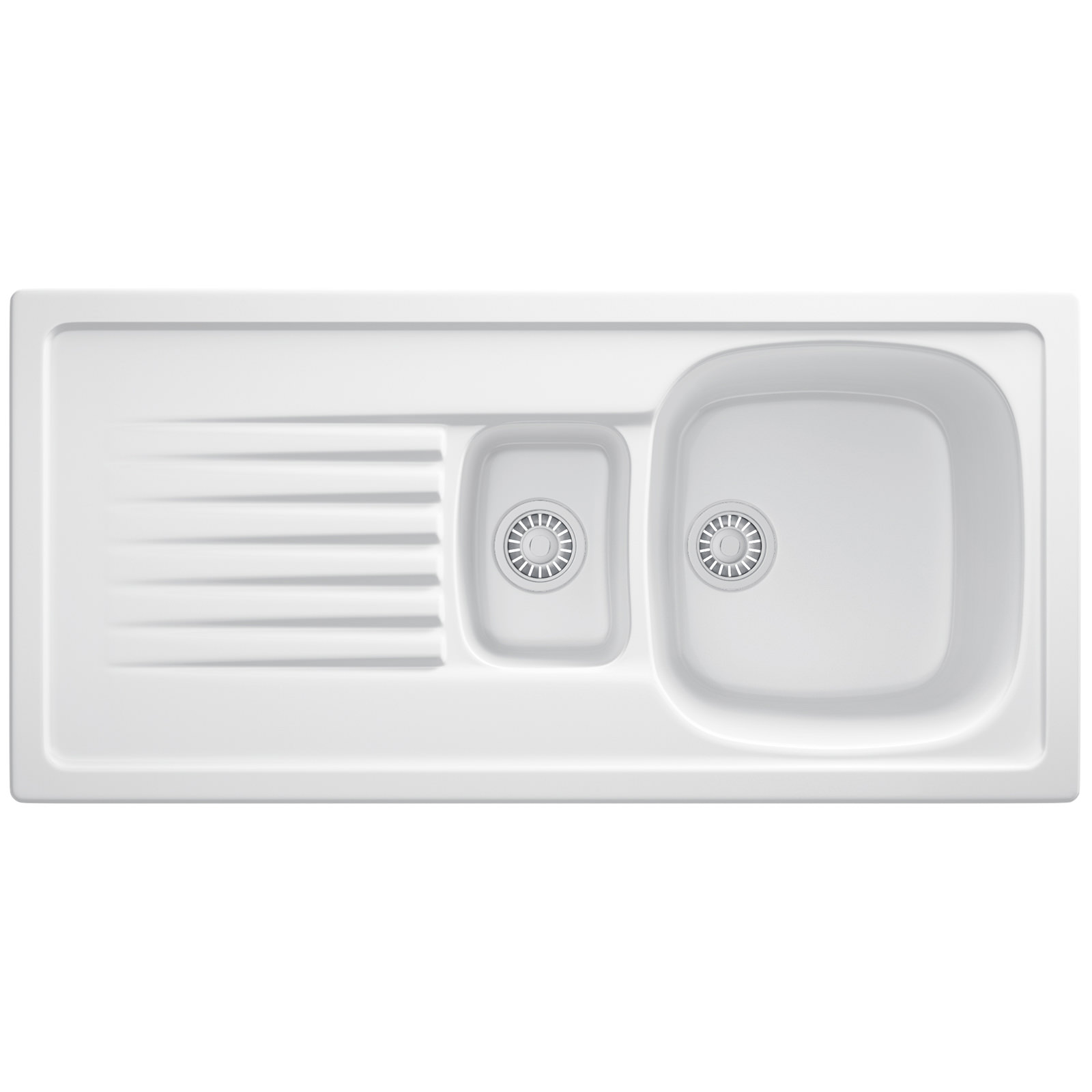 Franke Elba ELK 651 Ceramic White 1.5 Bowl Inset Sink | 124.0184.409