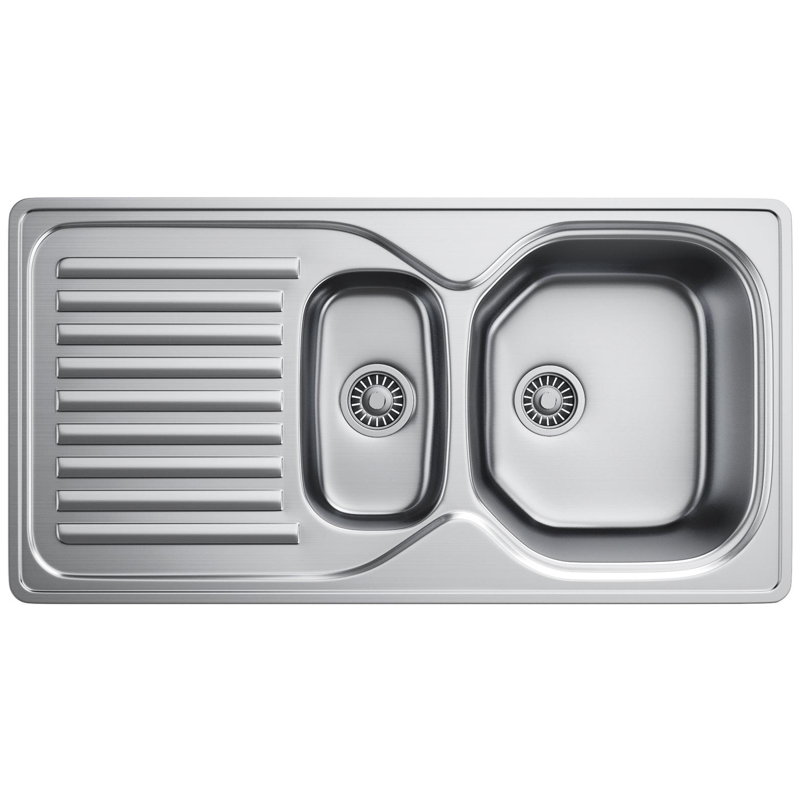 Franke 651 Sink : Franke Elba ELN 651 Stainless Steel 1.5 Bowl Inset Kitchen Sink ...