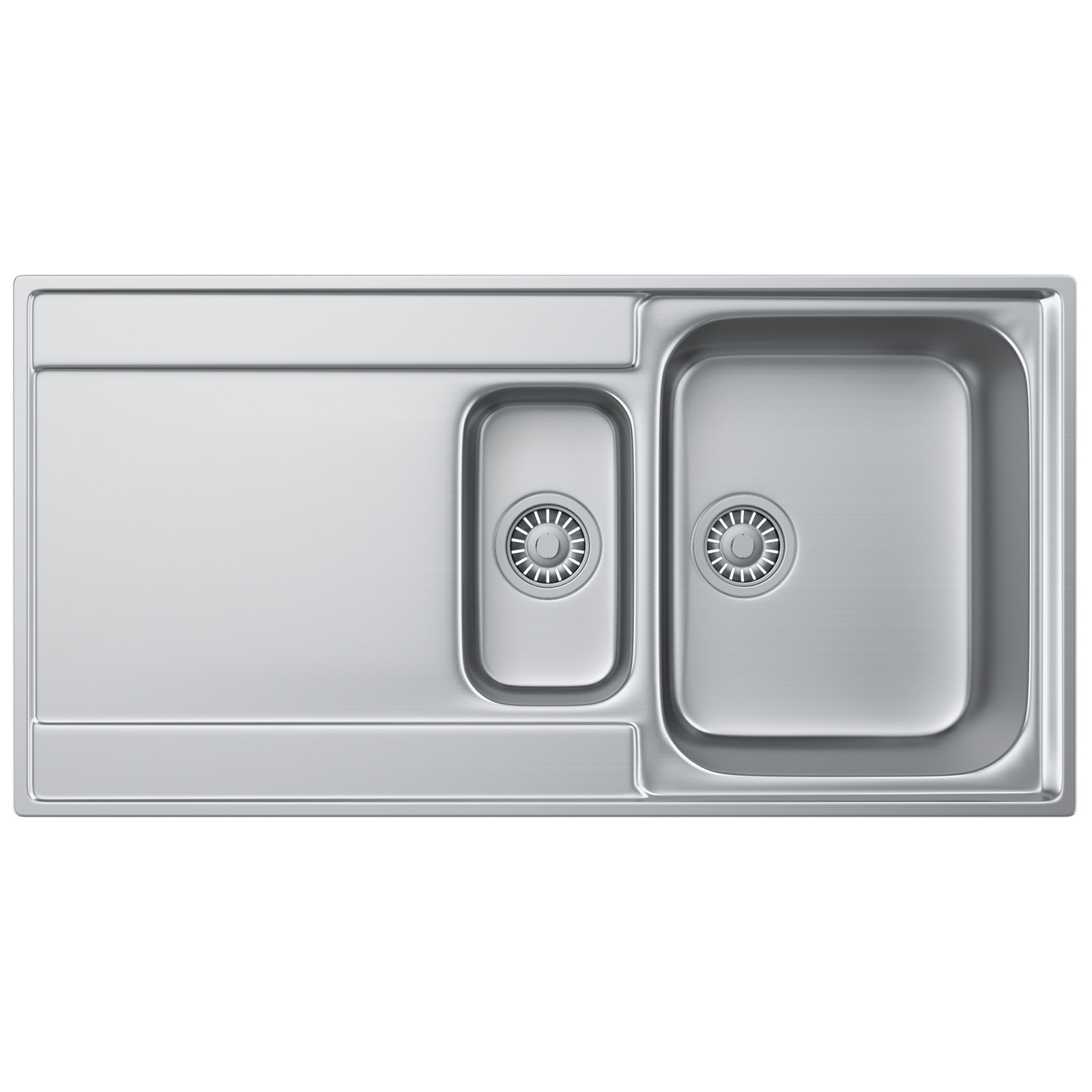 Franke Sink Tops : Franke Maris Slim-Top MRX 251 Stainless Steel 1.5 Bowl Kitchen Inset ...