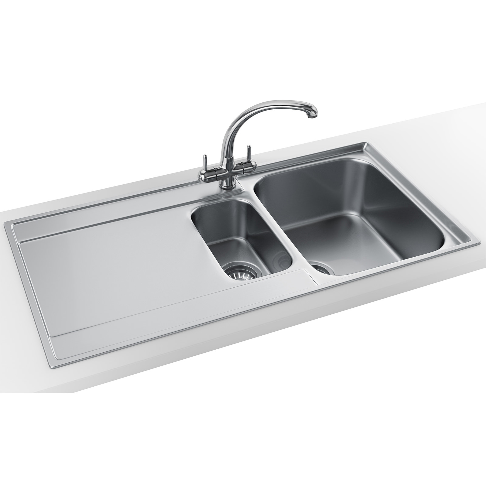 Best Stainless Steel Sinks Uk : ... Maris Slim-Top Propack MRX 251 Stainless Steel Kitchen Sink And Tap