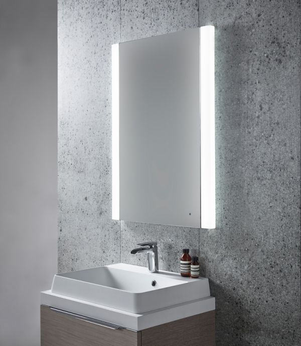 backlit bathroom mirrors uk tavistock pride led illuminated mirror 600 x 810mm sle570 15465