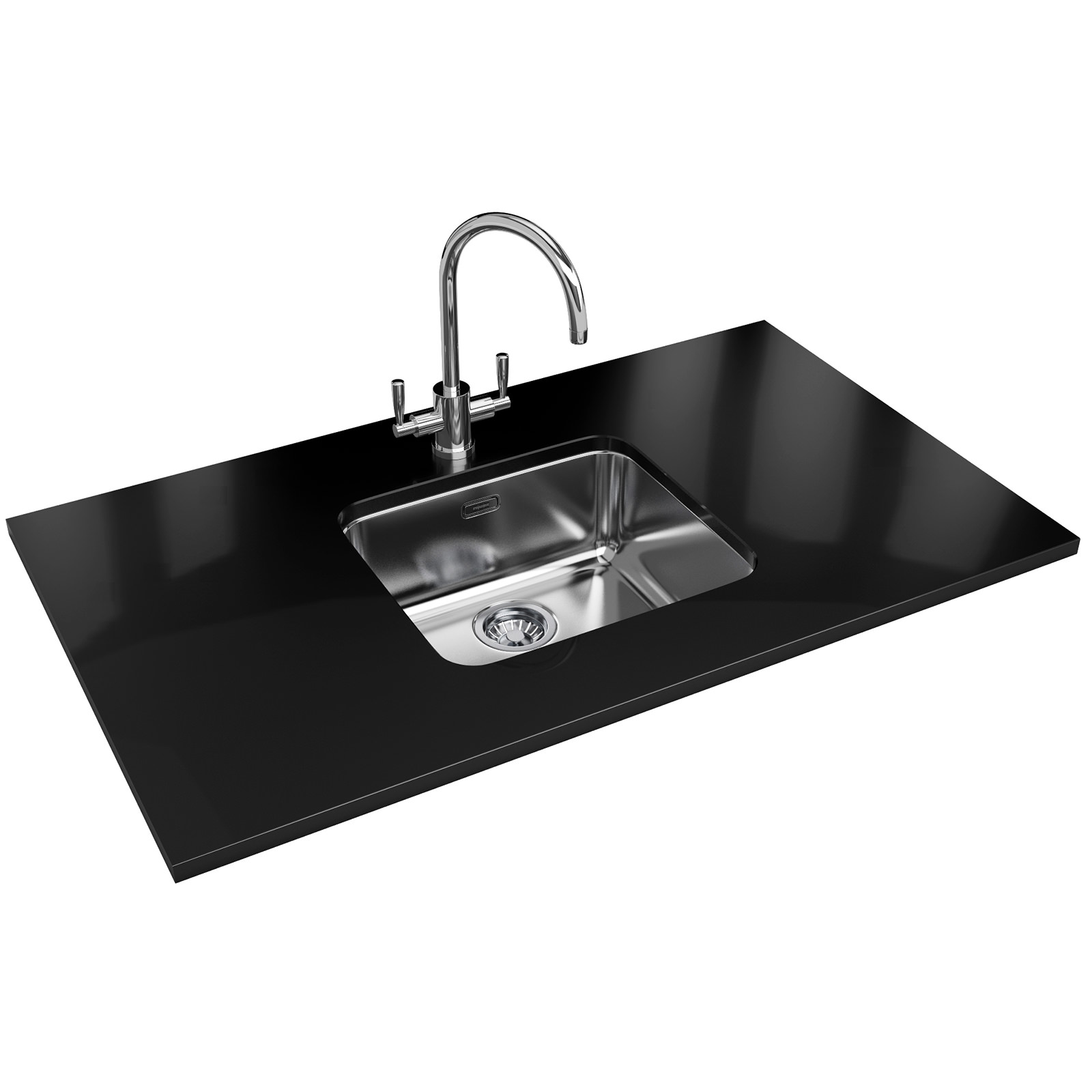 franke largo lax 110 45 stainless steel 1.0 bowl undermount sink