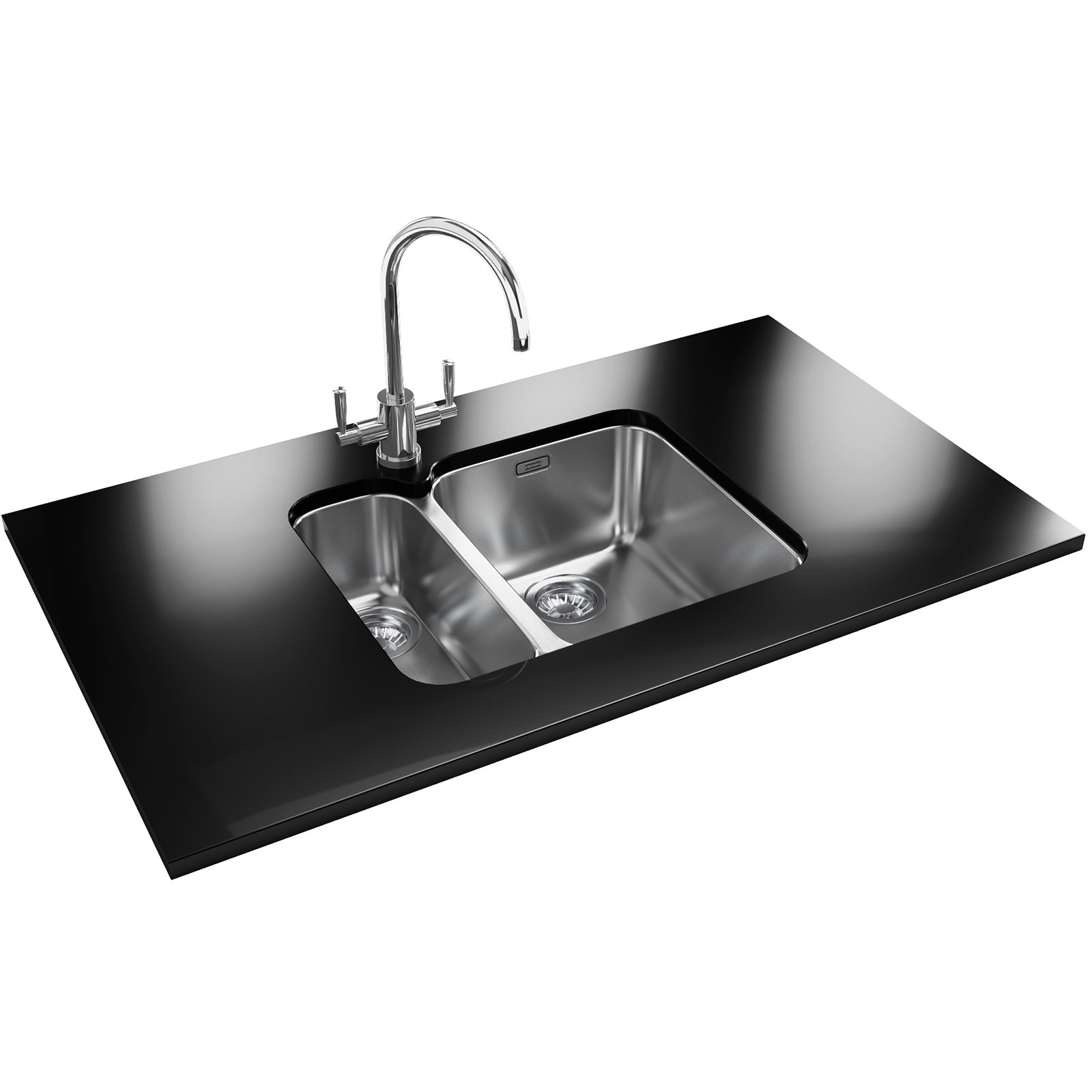 Franke ariane designer pack arx 160d stainless steel sink for Designer stainless steel sinks