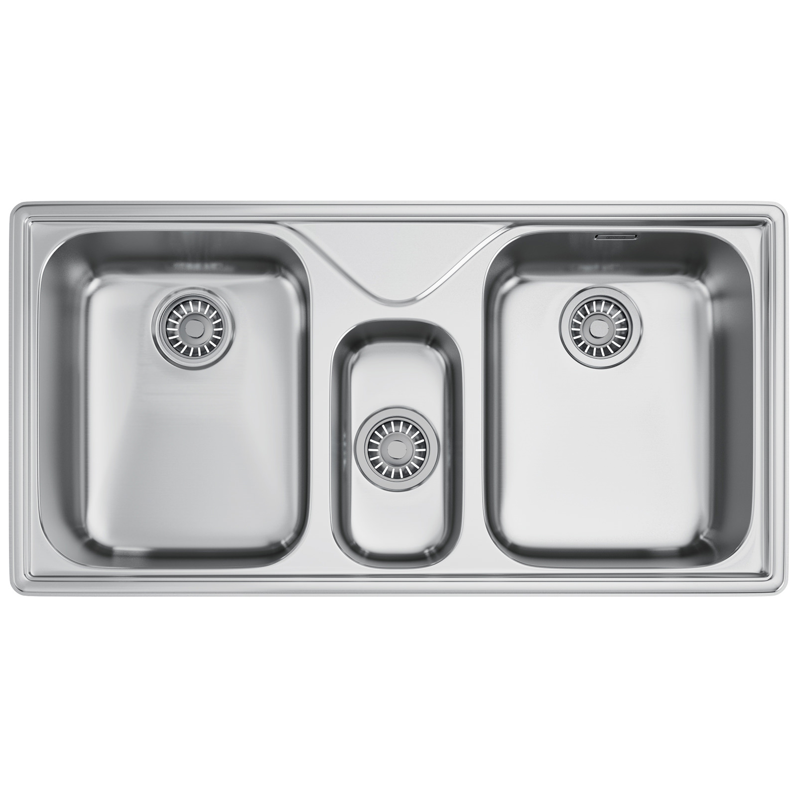 Franke 2 Bowl Sink : ... two bowl sinks franke ariane arx 670 stainless steel 2 5 bowl kitchen