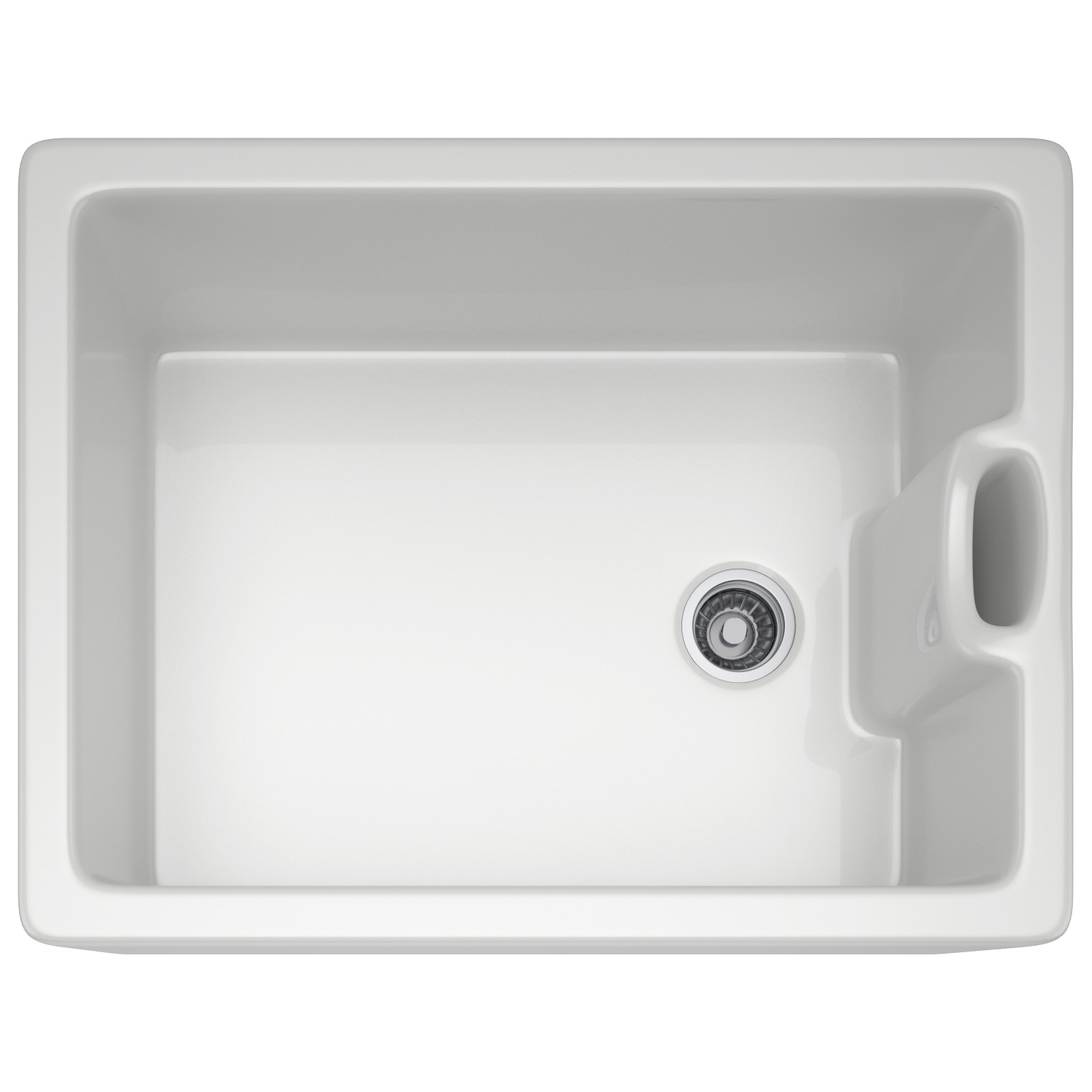 Franke Belfast BAK 710 Ceramic White 1.0 Bowl Kitchen Sink 130.0050 ...