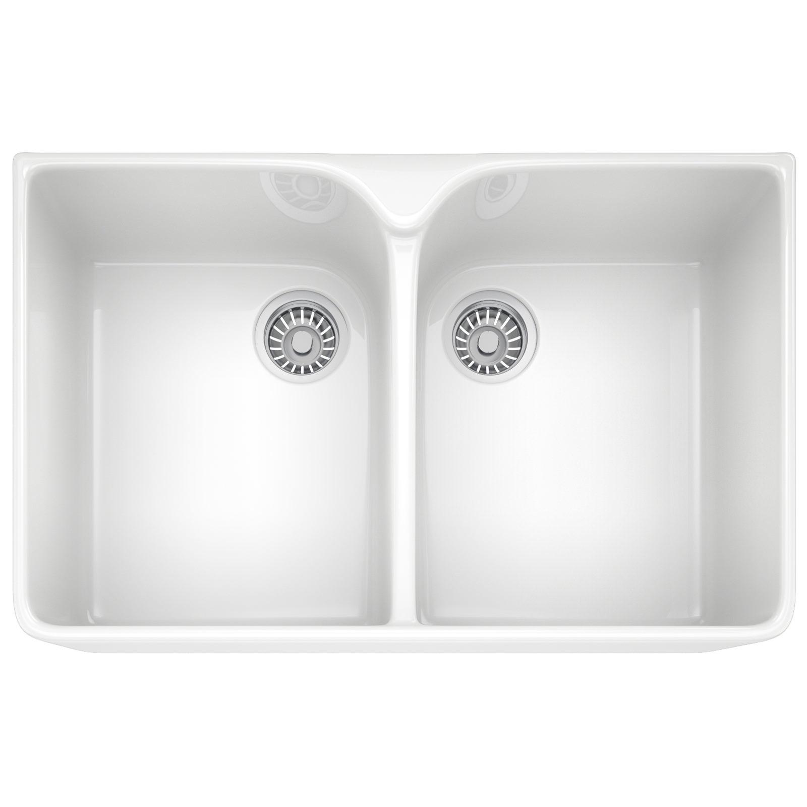 Franke Ceramic Sink : Franke Belfast VBK 720 Ceramic White 2.0 Bowl Kitchen Sink 130.0049 ...