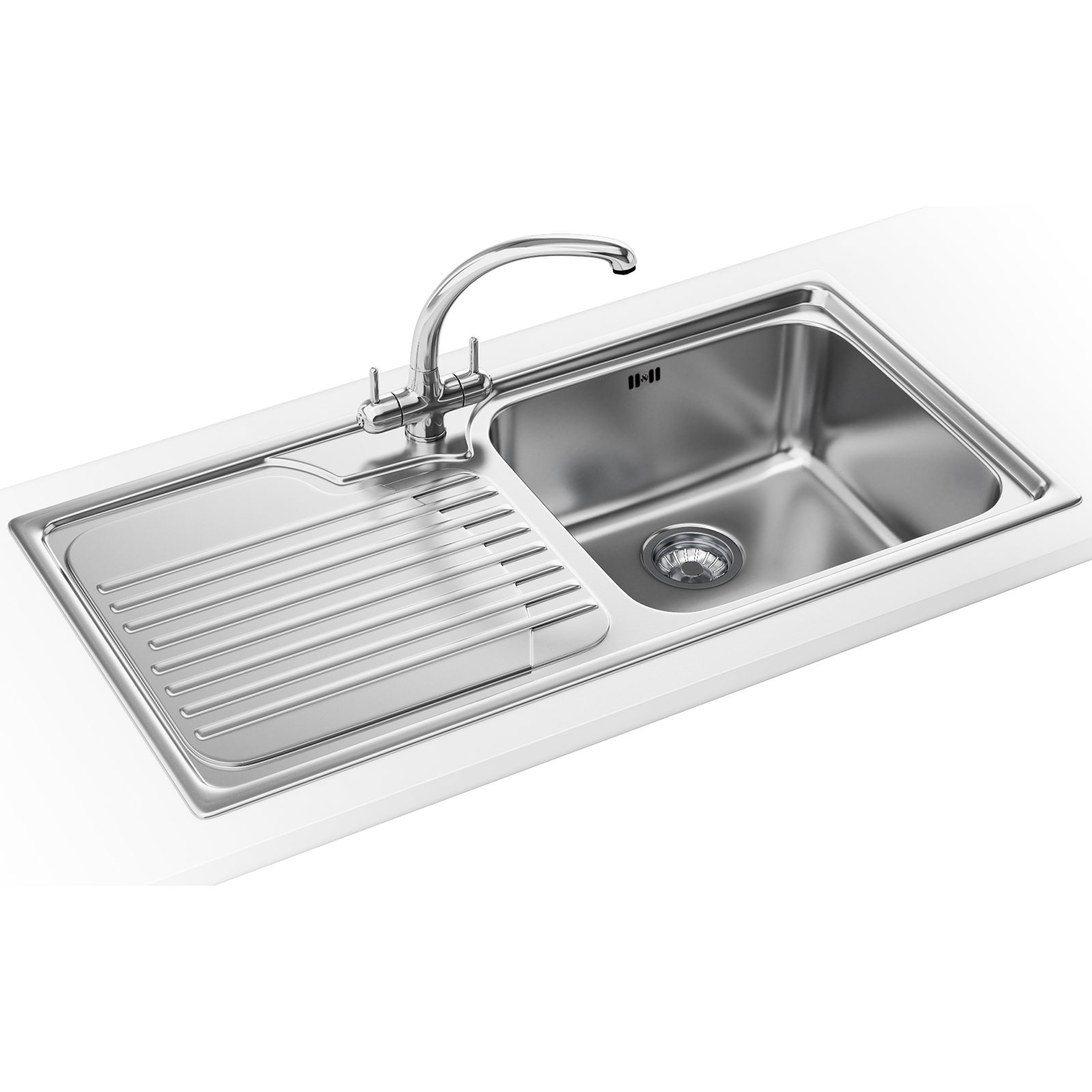 Franke Sinks And Taps : Franke Galassia Propack GAX 611 Stainless Steel Kitchen Sink And Tap