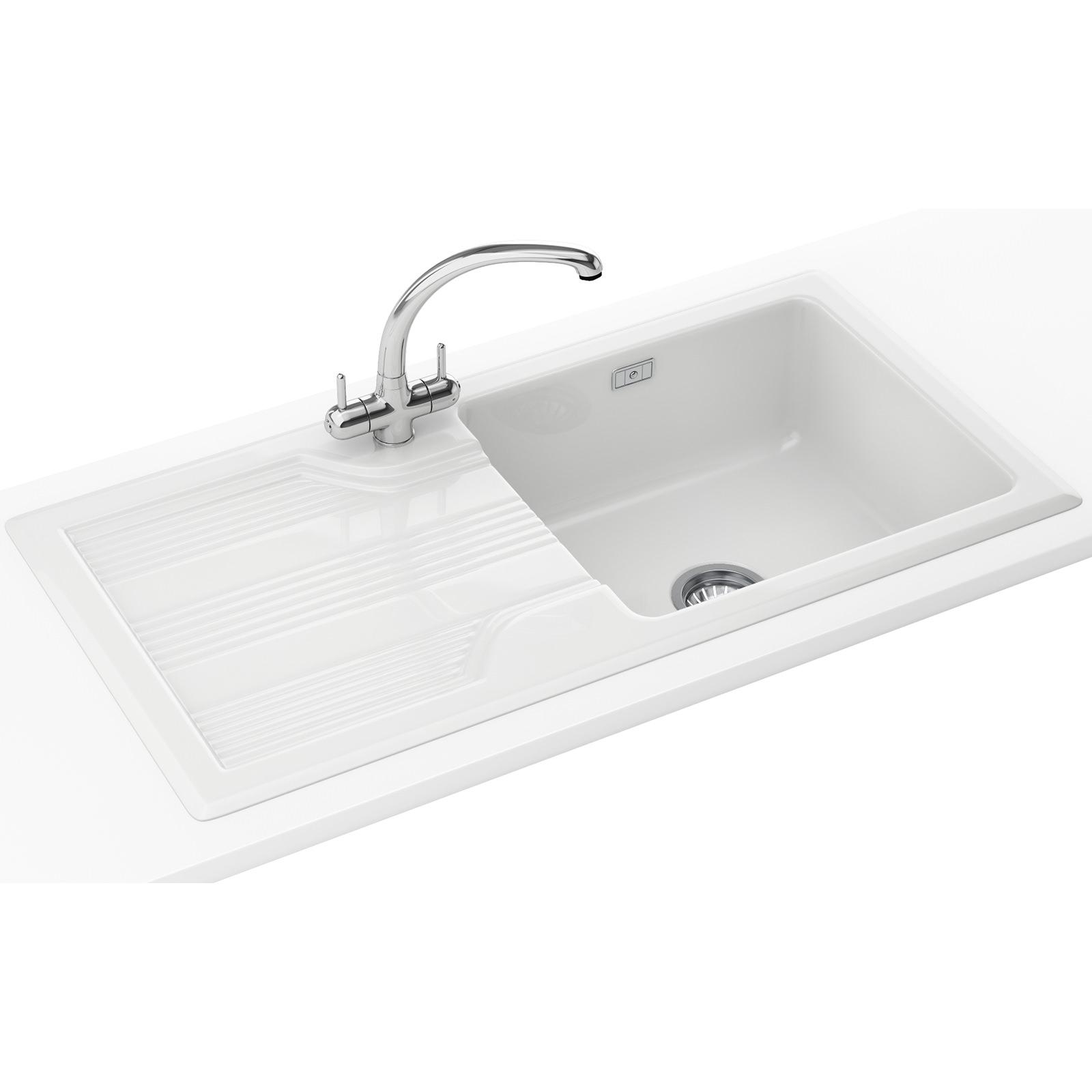 Franke Galassia Propack GAK 611 Ceramic White Inset Sink