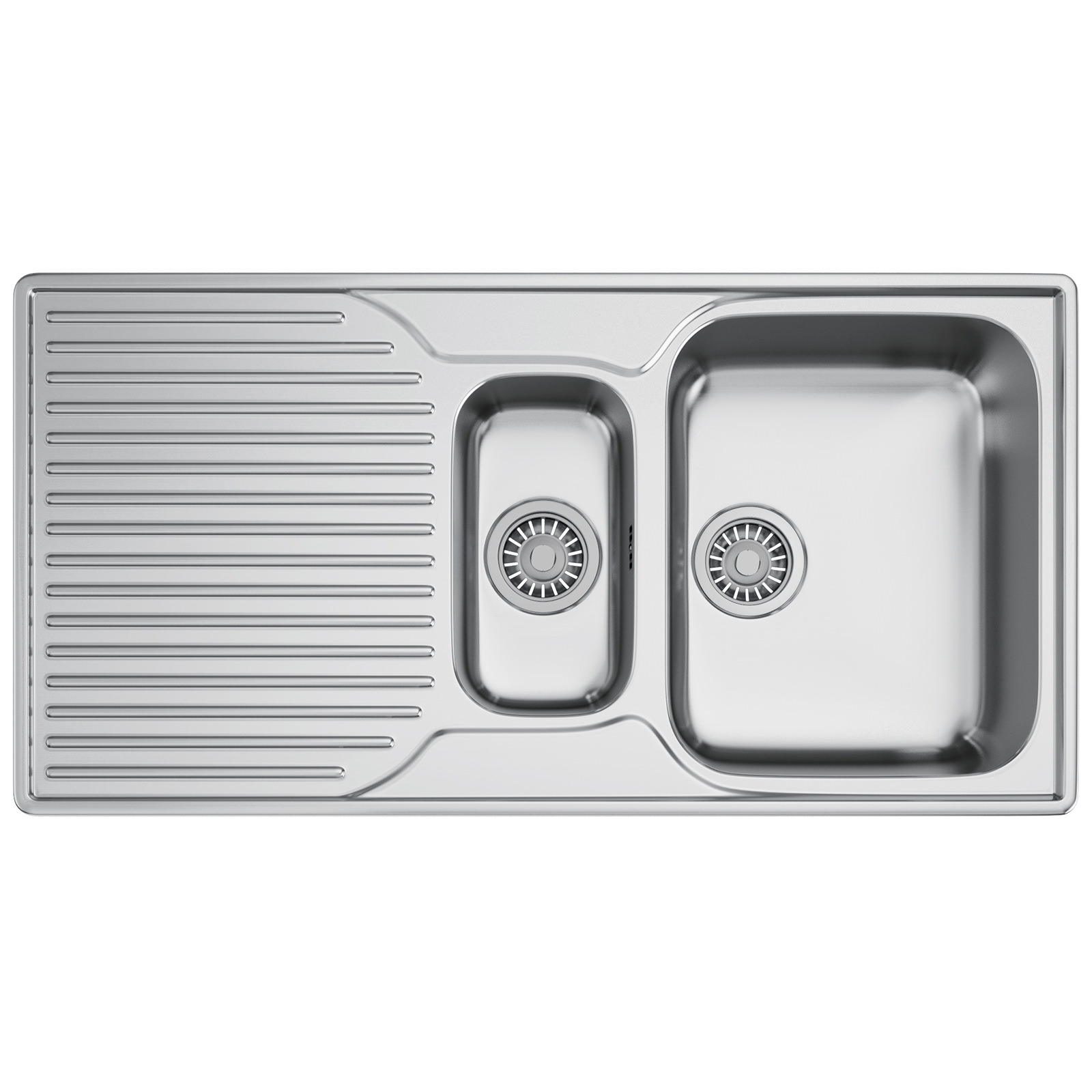 Franke Inset Sink : Franke Ariane ARX 651P Stainless Steel 1.5 Bowl Inset Sink 101.0277 ...