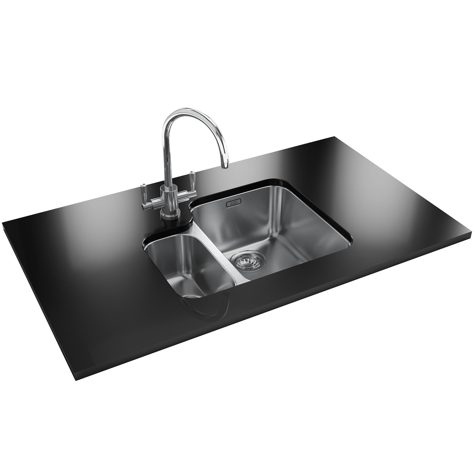 Franke Ariane ARX 160 Stainless Steel 1.5 Bowl Undermount Sink 122 ...